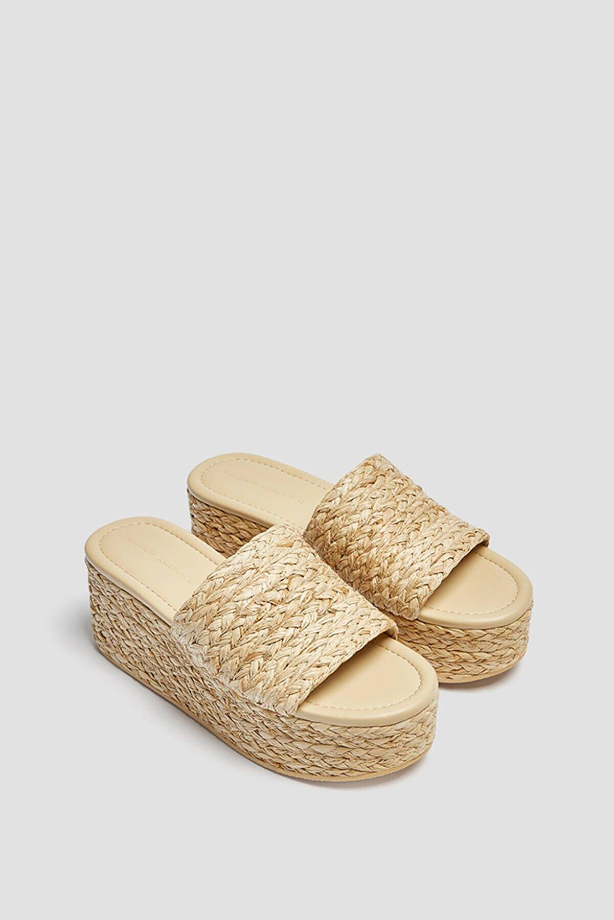 Pull & Bear Örgülü Dolgu Topuk Sandalet