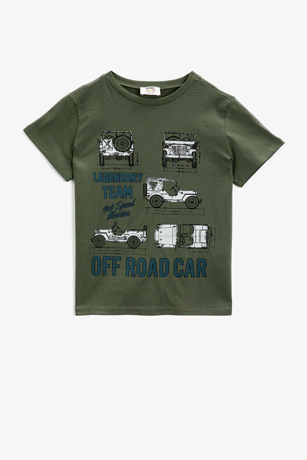 Koton Erkek Çocuk Haki T-Shirt1YKB16200OK