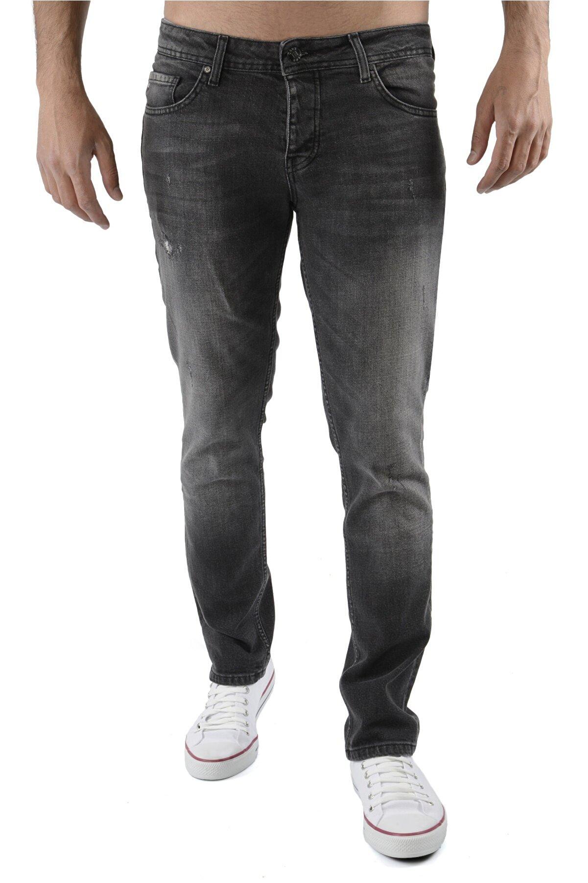 CEDY DENIM Erkek Antrasit Kot Pantolon Slim Fit Jean - C326