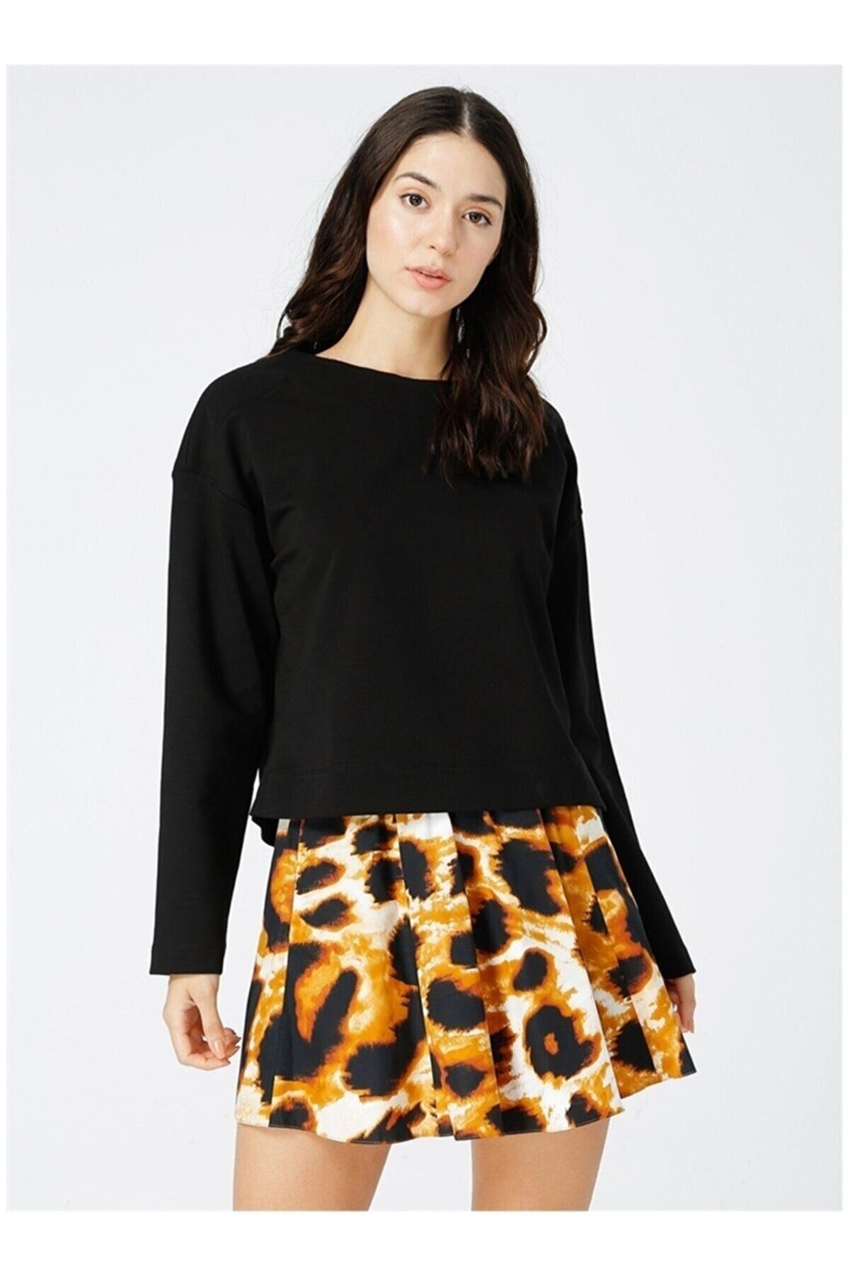 Network Kadın Siyah Uzun Kollu Sweatshirt