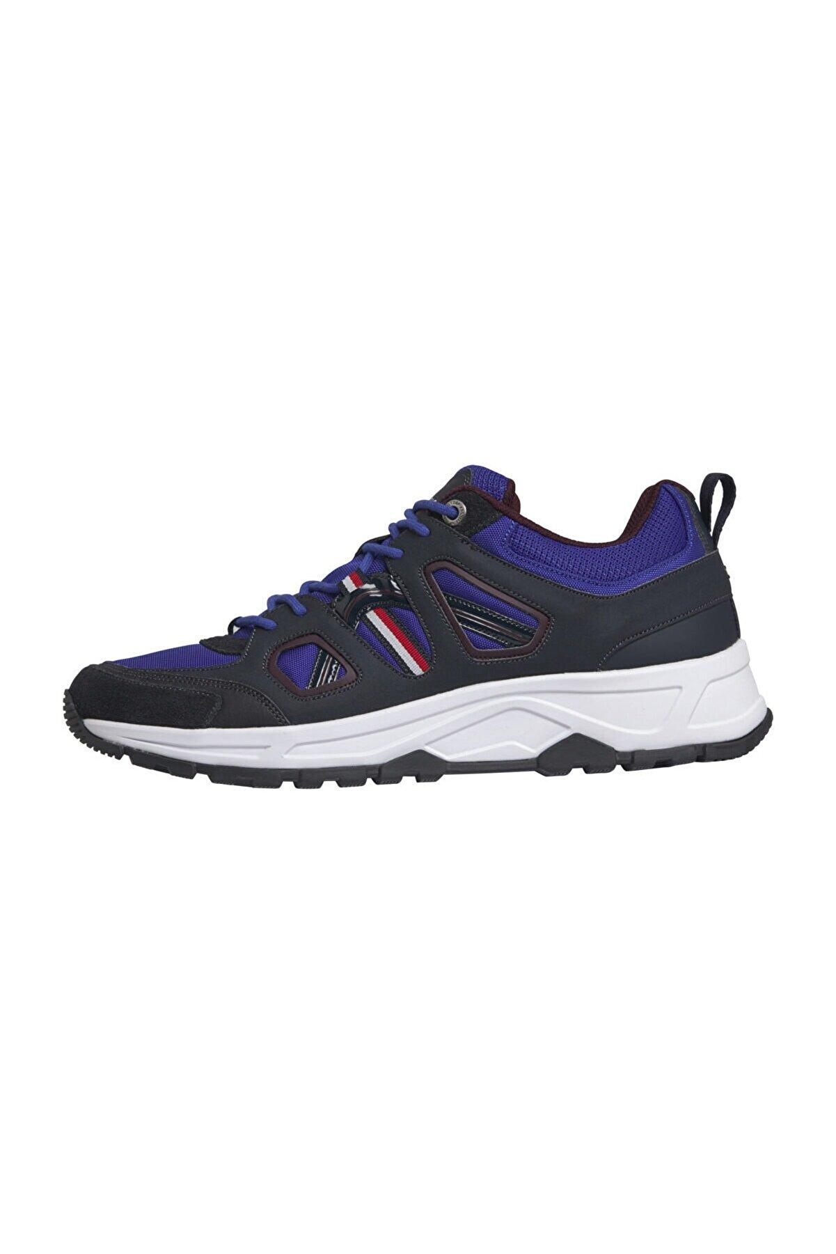 Tommy Hilfiger Erkek Mavi Sneakers Fashion Modern Sneaker Low FM0FM02391