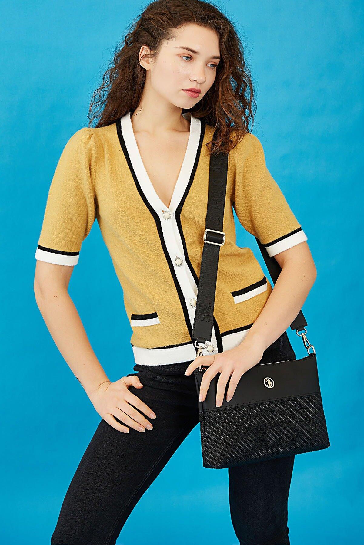 US Polo Assn Sıyah-sıyah Kadın Postacı Çantası Us8367