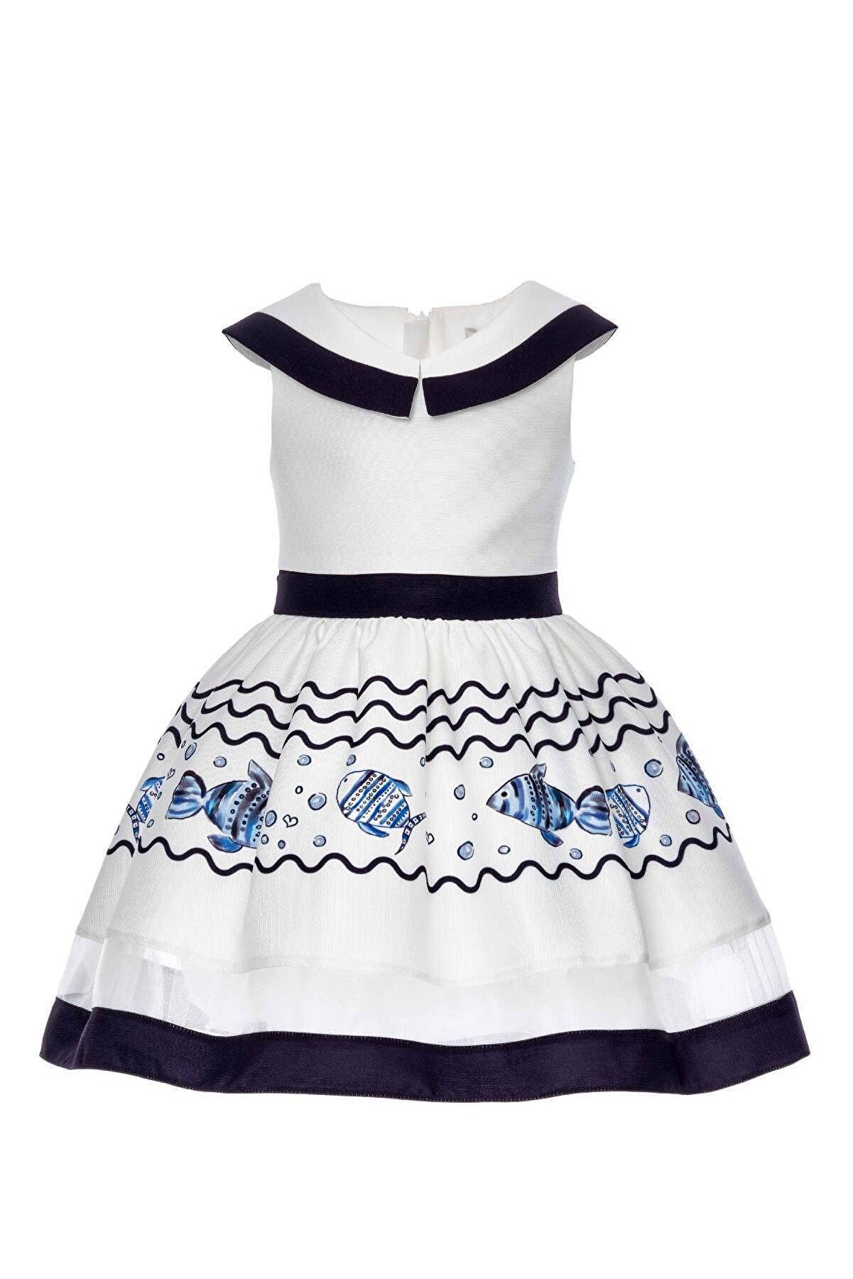Pamina Kız Çocuk Mavi Lacivert Elbise