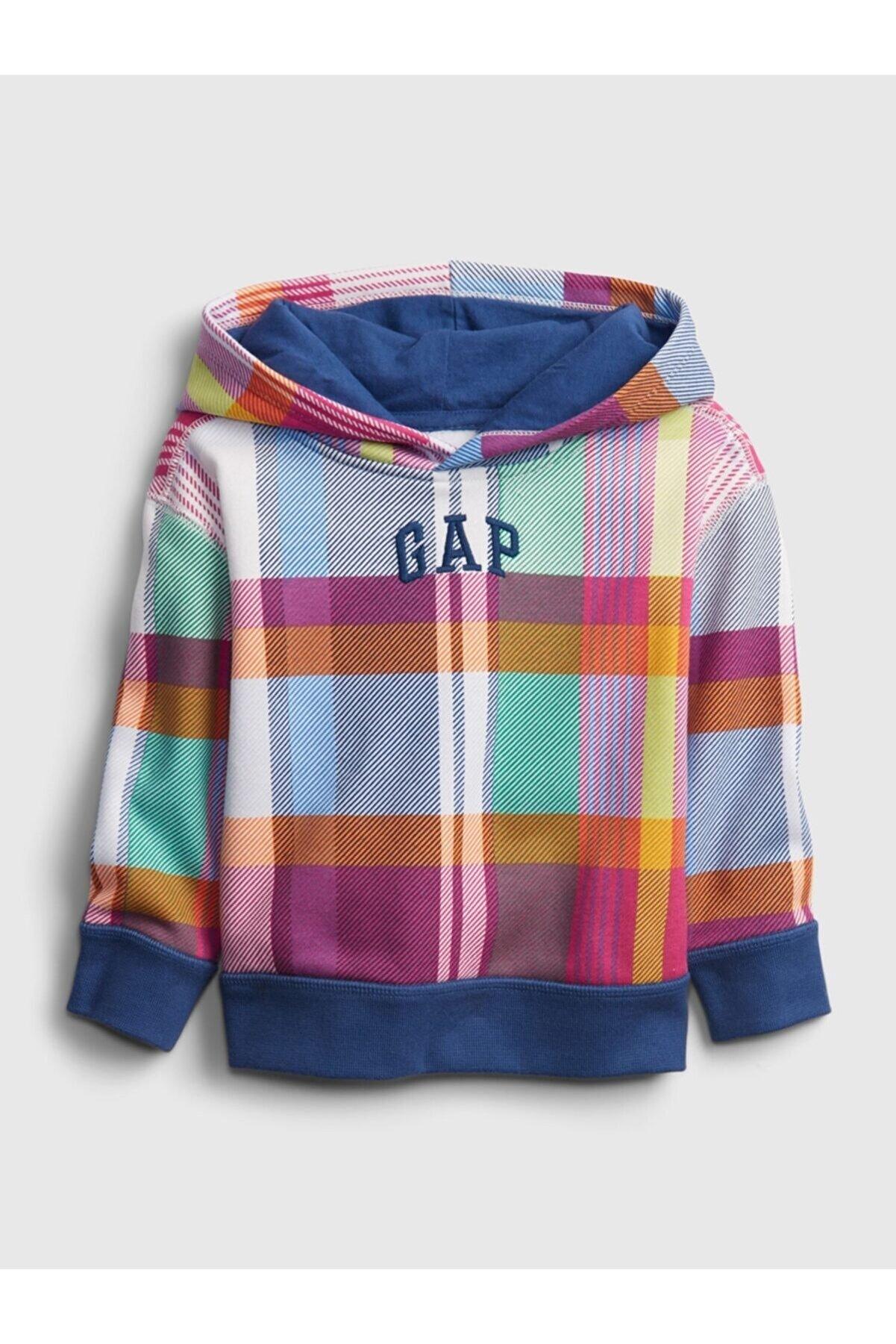 GAP Erkek Bebek Logo Kapüşonlu Sweatshirt