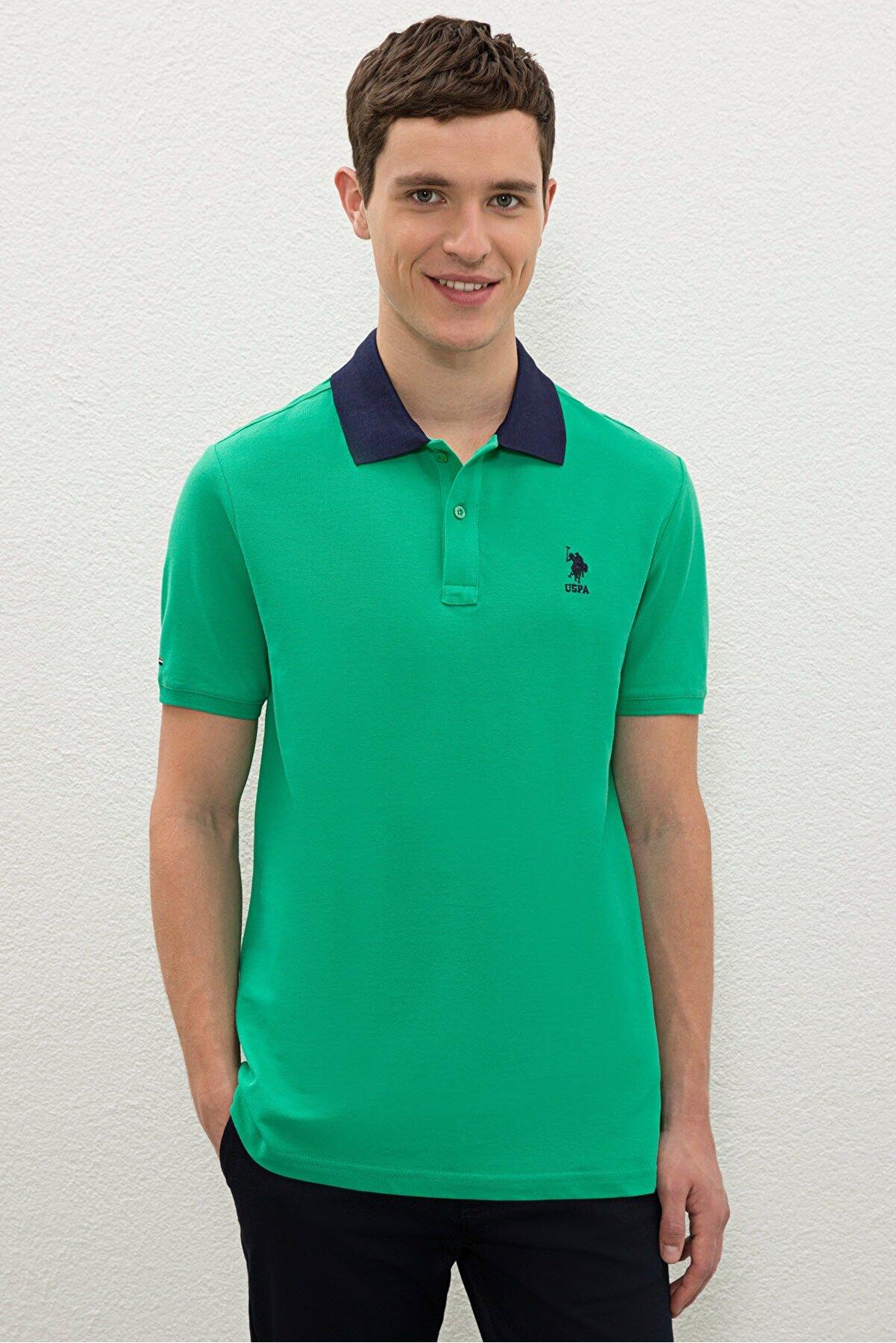 US Polo Assn Yesıl Erkek T-Shirt