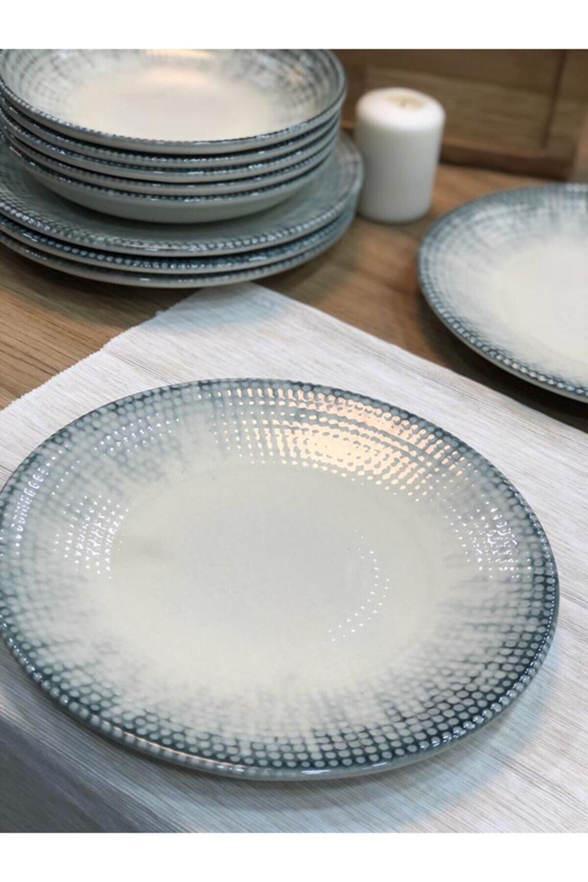 Kütahya Porselen Corendon Serisi 25 Cm Servis Tabağı-6 Adet
