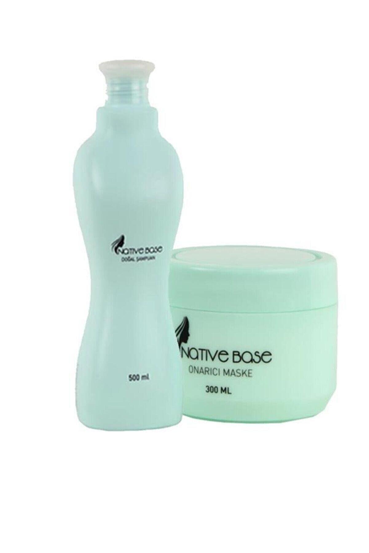 Native Base Doğal Şampuan 500 ml Ve Onarıcı Maske 300 ml 2840095040716