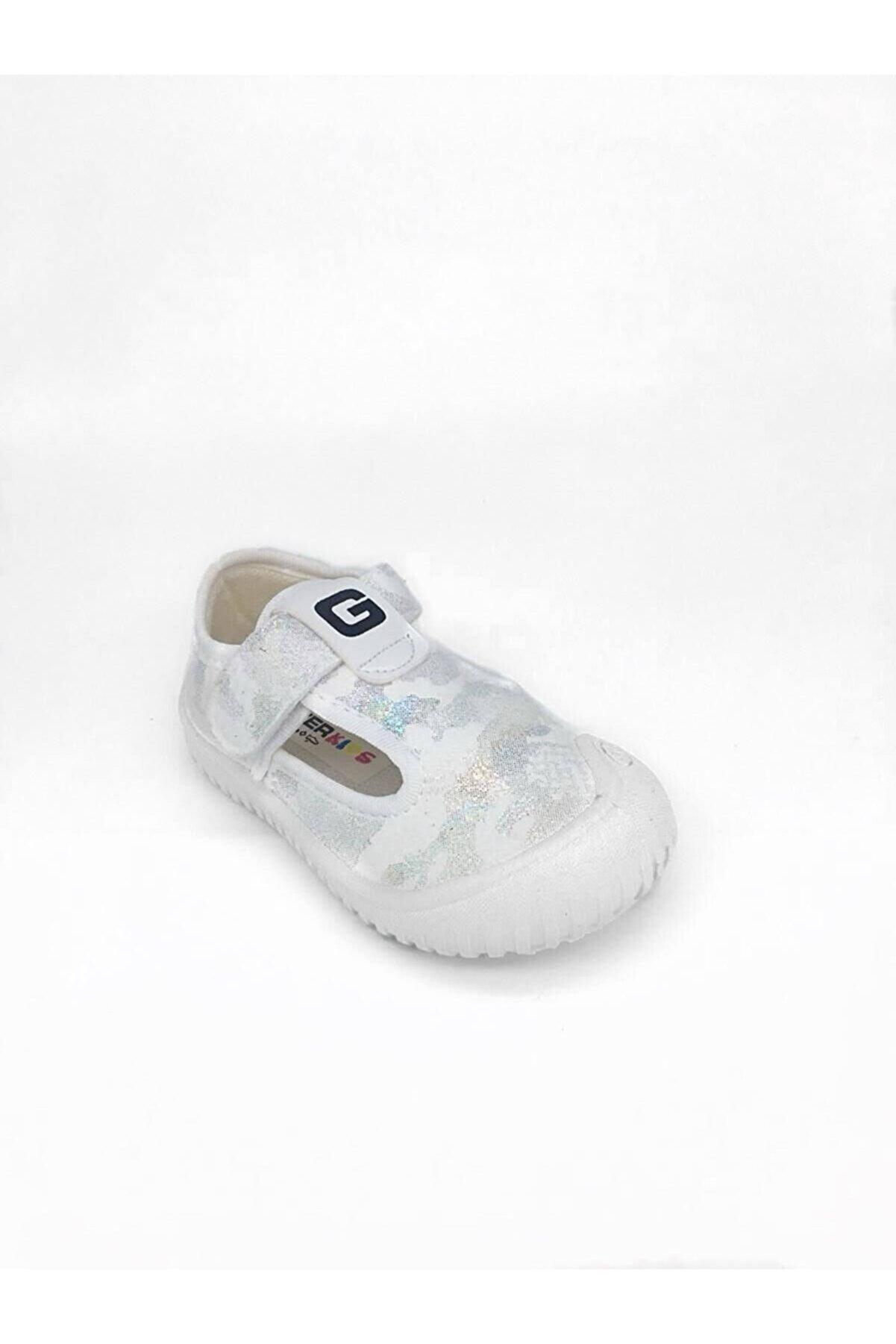 Gezer Beyaz Unisex Bebek Yazlık Panduf