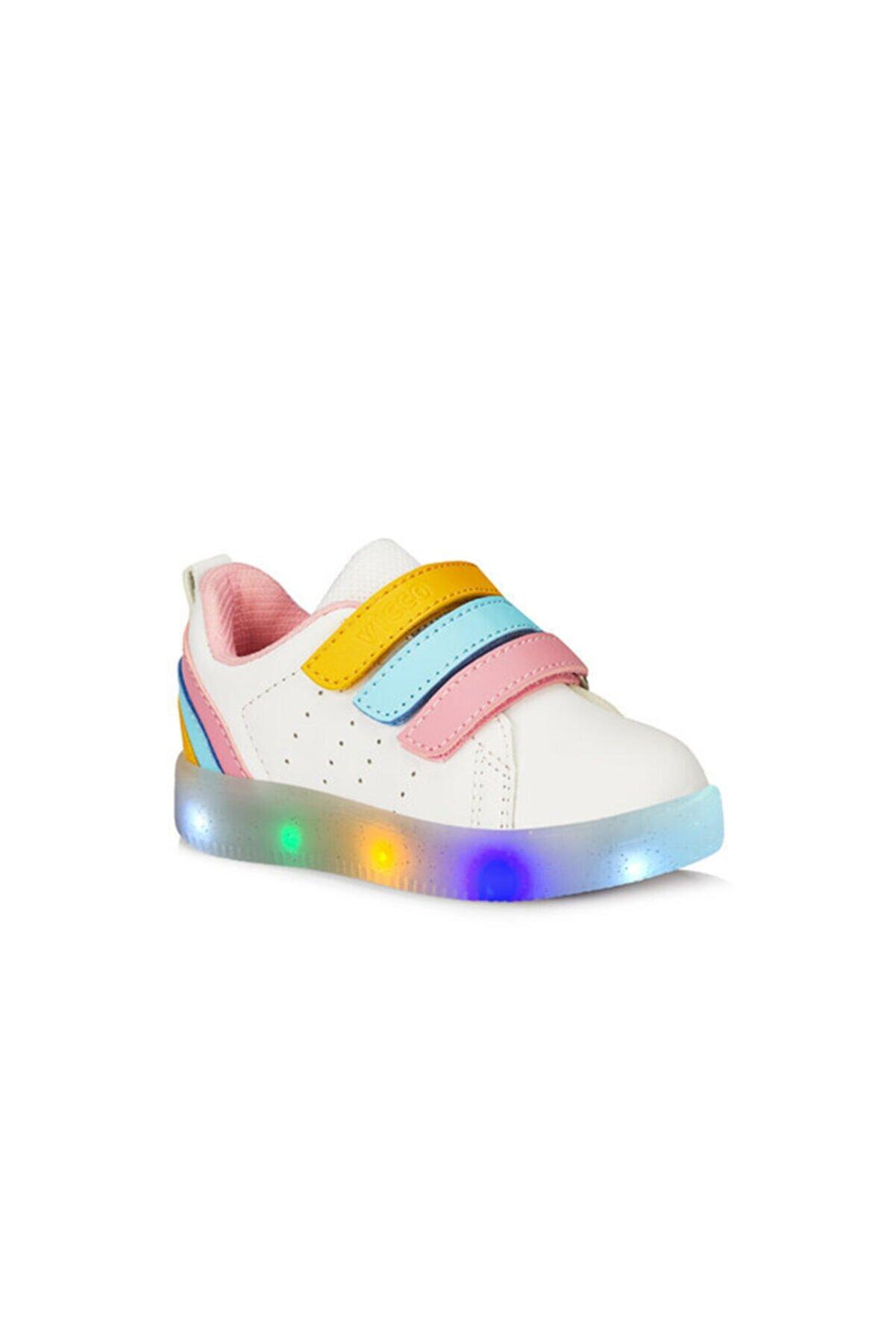 Vicco Sun Renkli Işıklı Çocuk Cırtlı Sneaker 220.21y.212