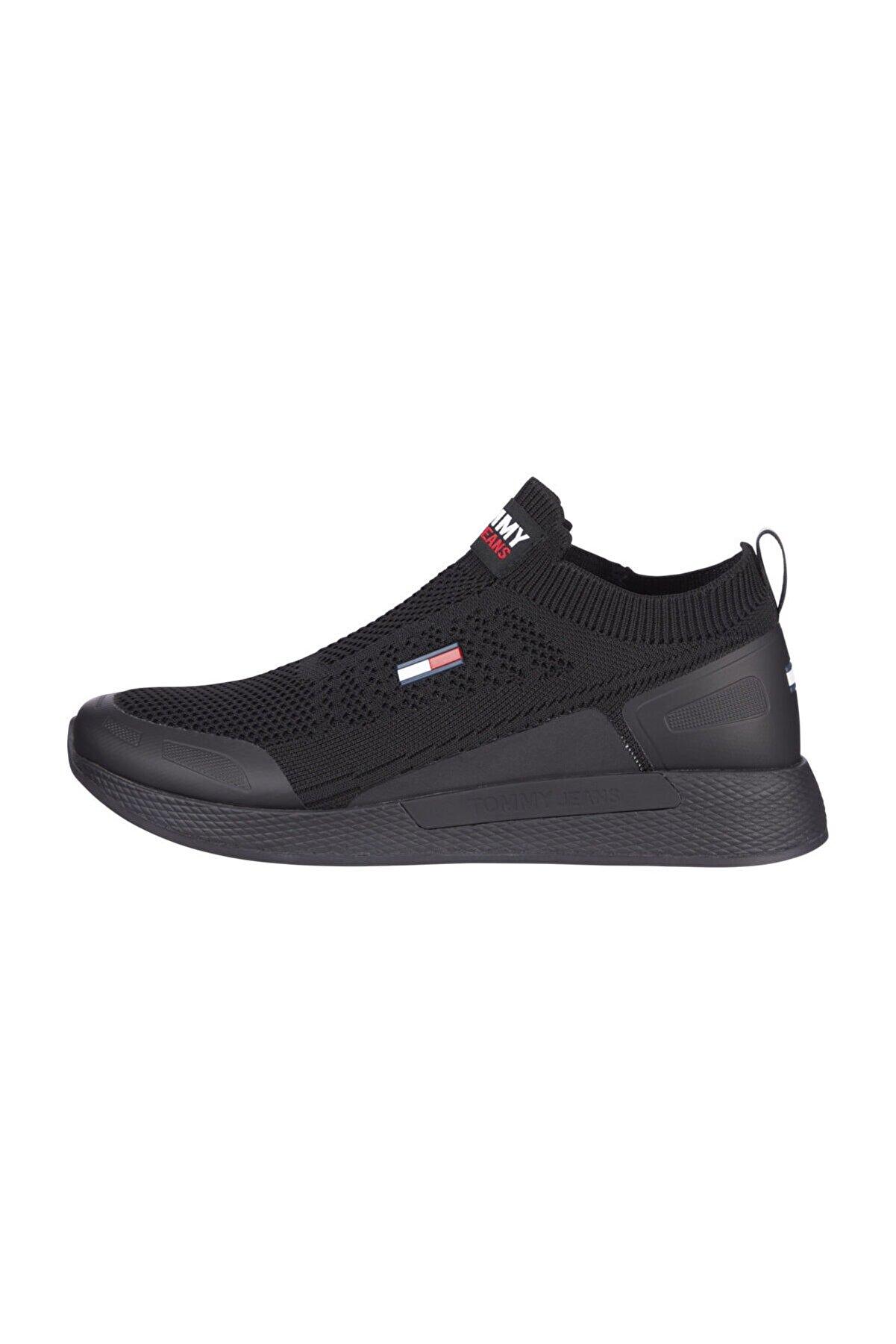 Tommy Hilfiger Erkek Siyah Sneaker EM0EM00664
