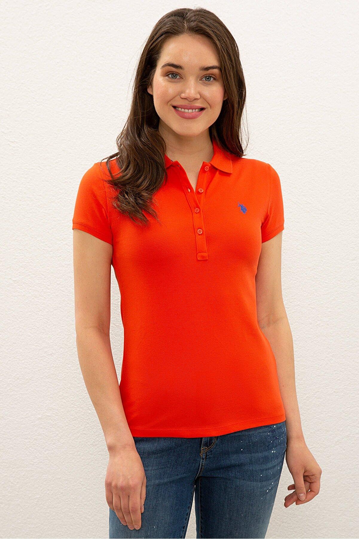 US Polo Assn Kırmızı Kadın T-Shirt