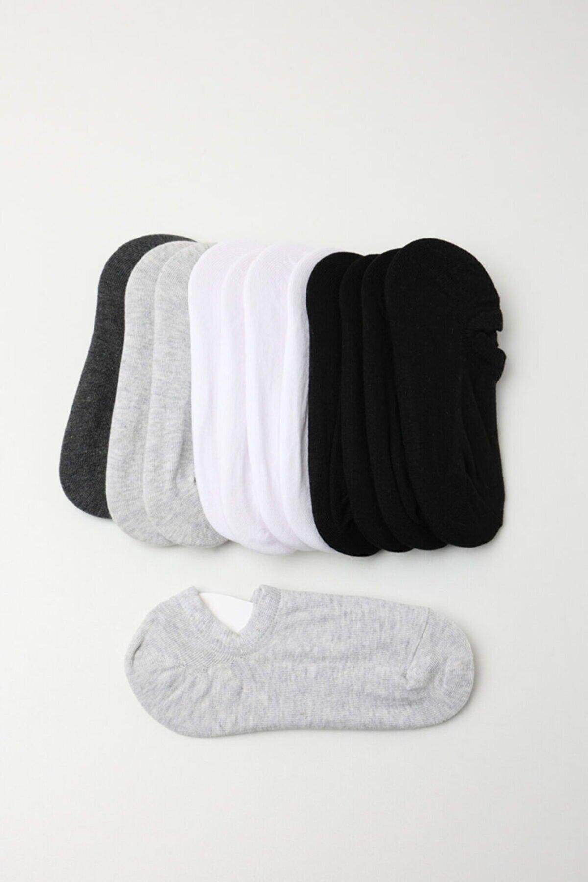 Katia & Bony Kadın Spor Çorap - Siyah /beyaz / Gri 12'li Paket