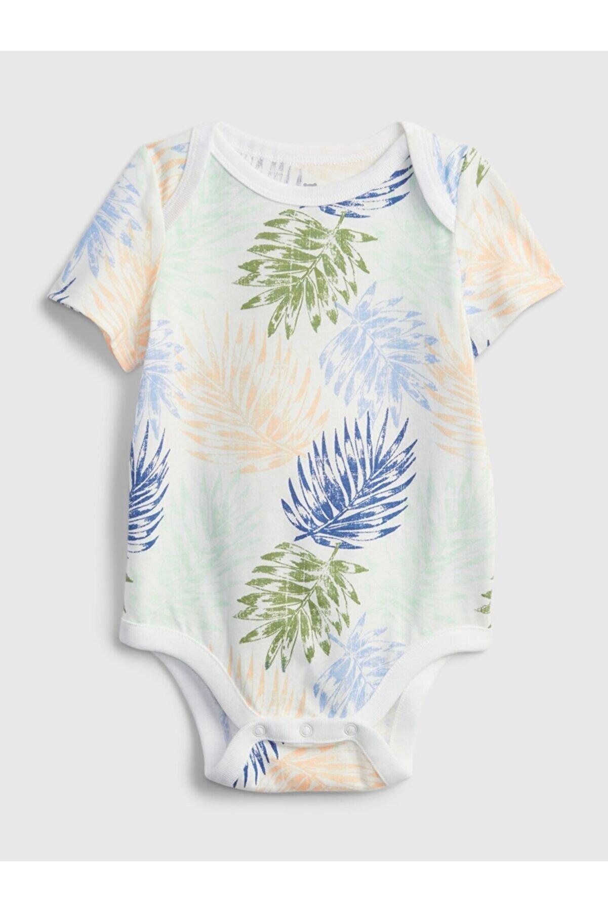 GAP Erkek Bebek Yeşil Organik Pamuklu Body