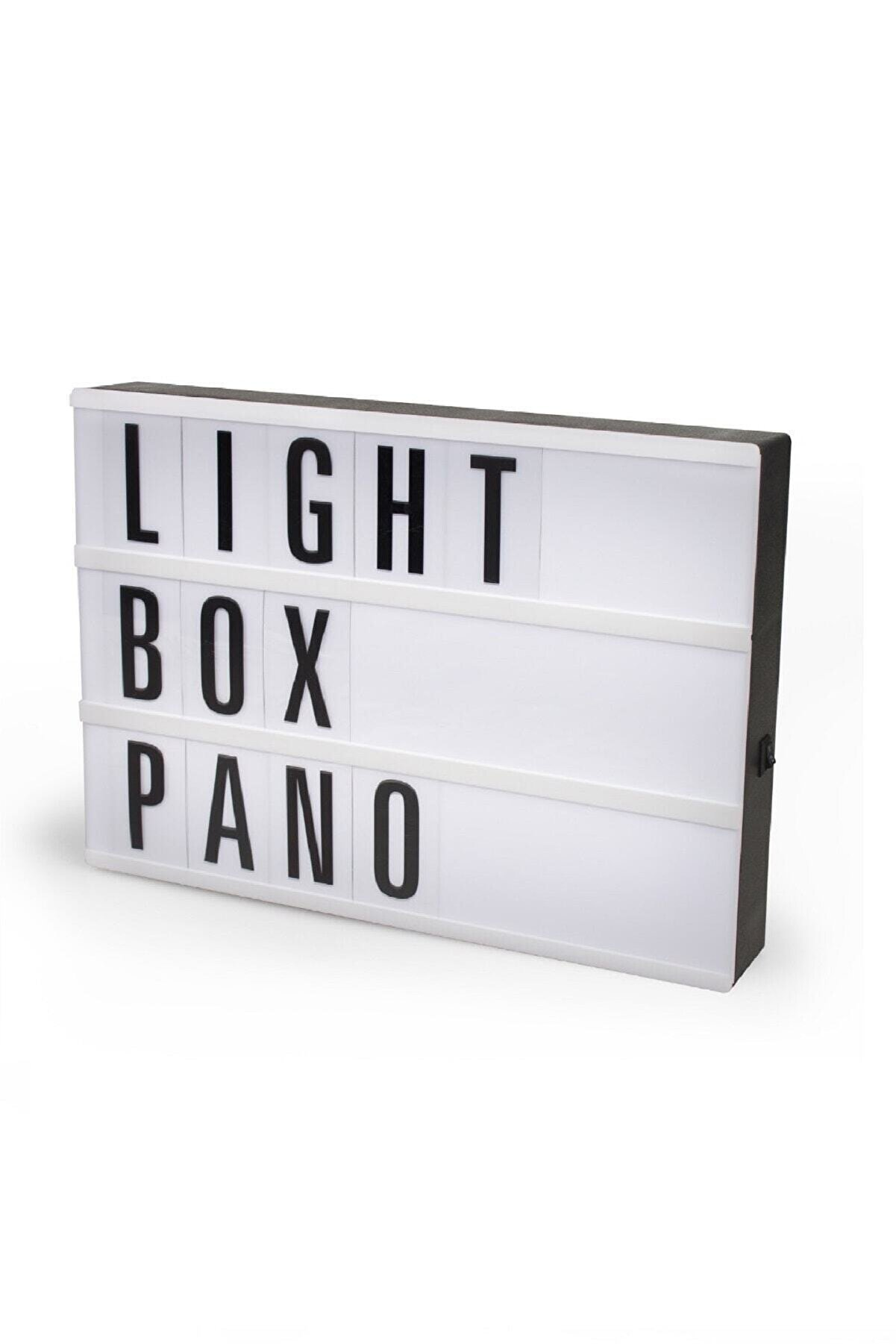 Petrix Lightbox A4 Led Işık Işıklı Mesaj Panosu 96 Harf Light Box Pano