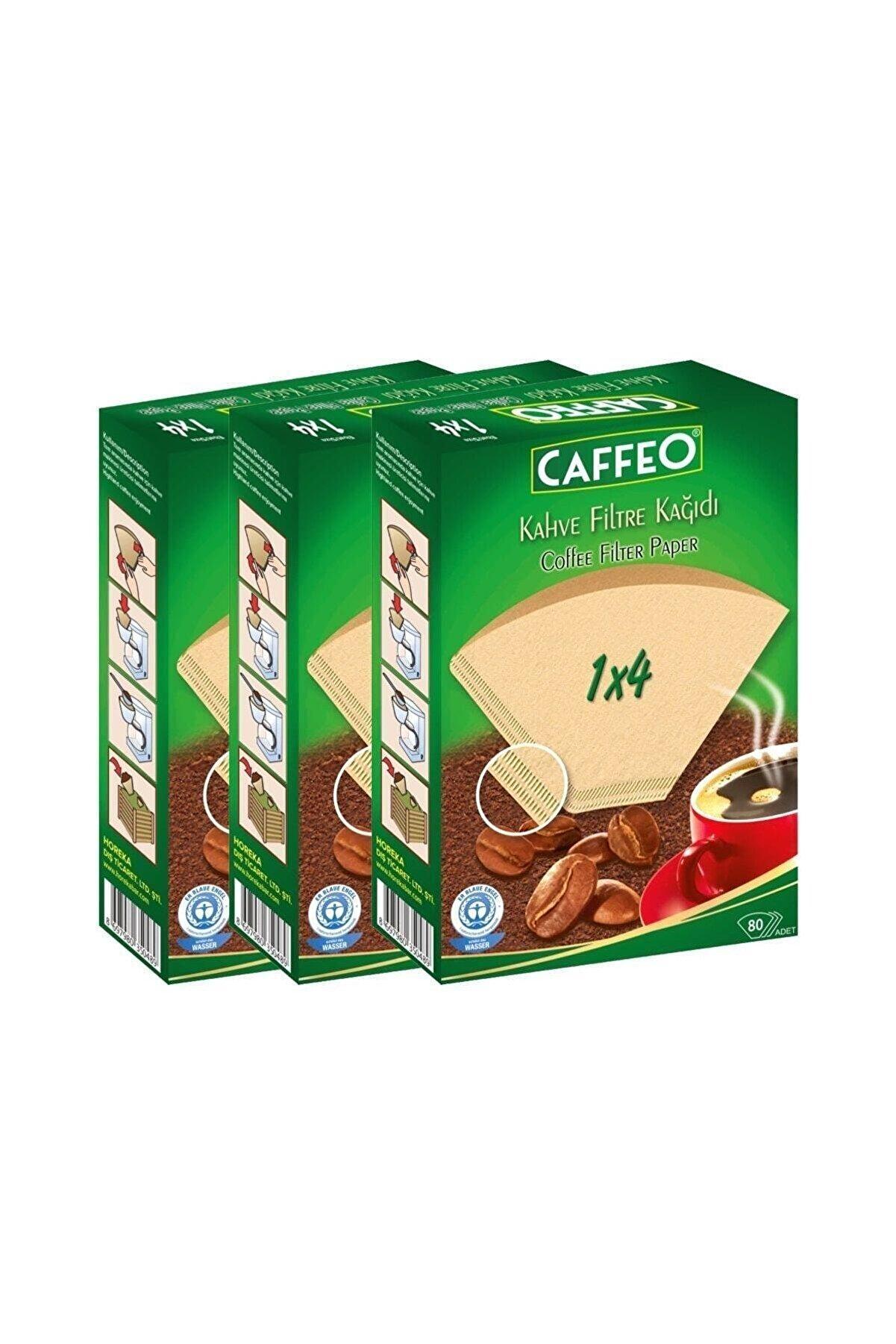 Caffeo Kahve Filtre Kağıdı 1x4 80 Adet 3 Lü Set 240 Adet
