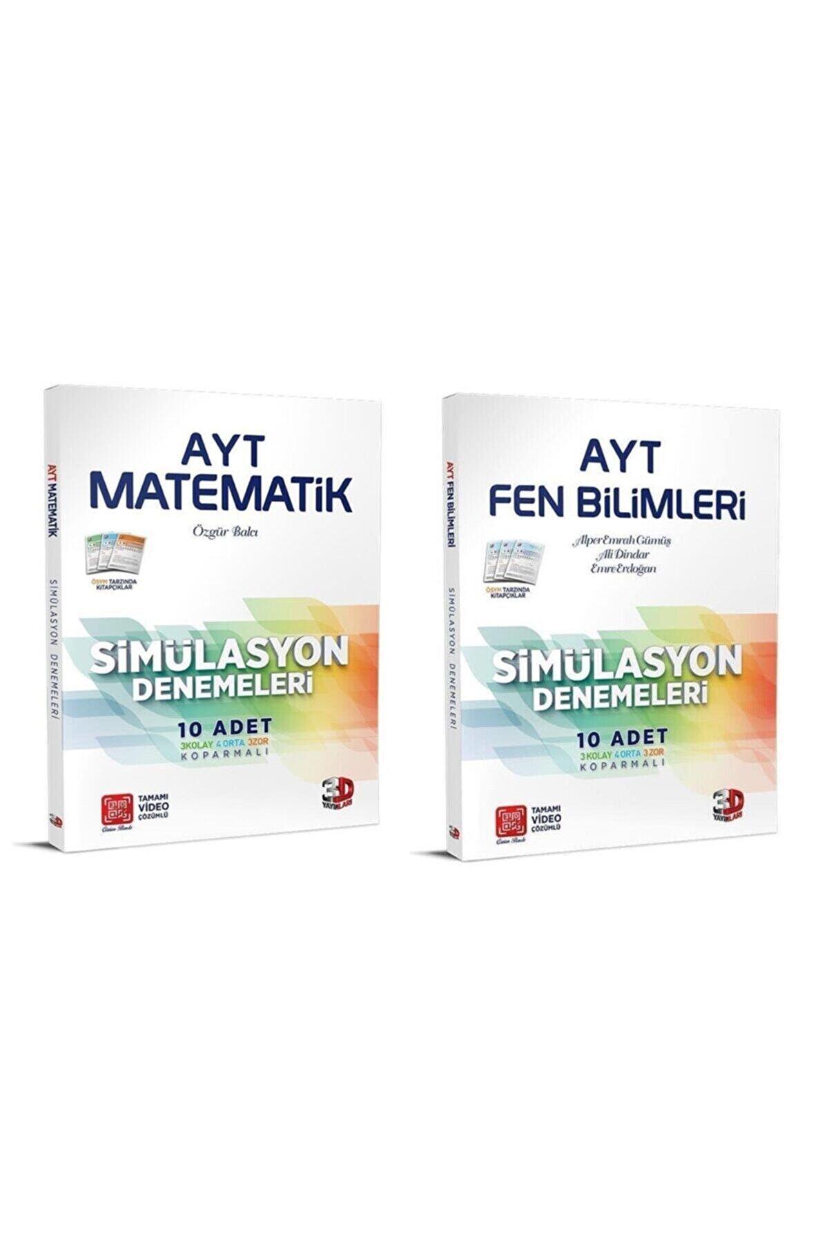 Çözüm Yayınları Çözüm Ayt 3d Matematik Fen Bilimleri Simülasyon Deneme Seti 2 Kitap