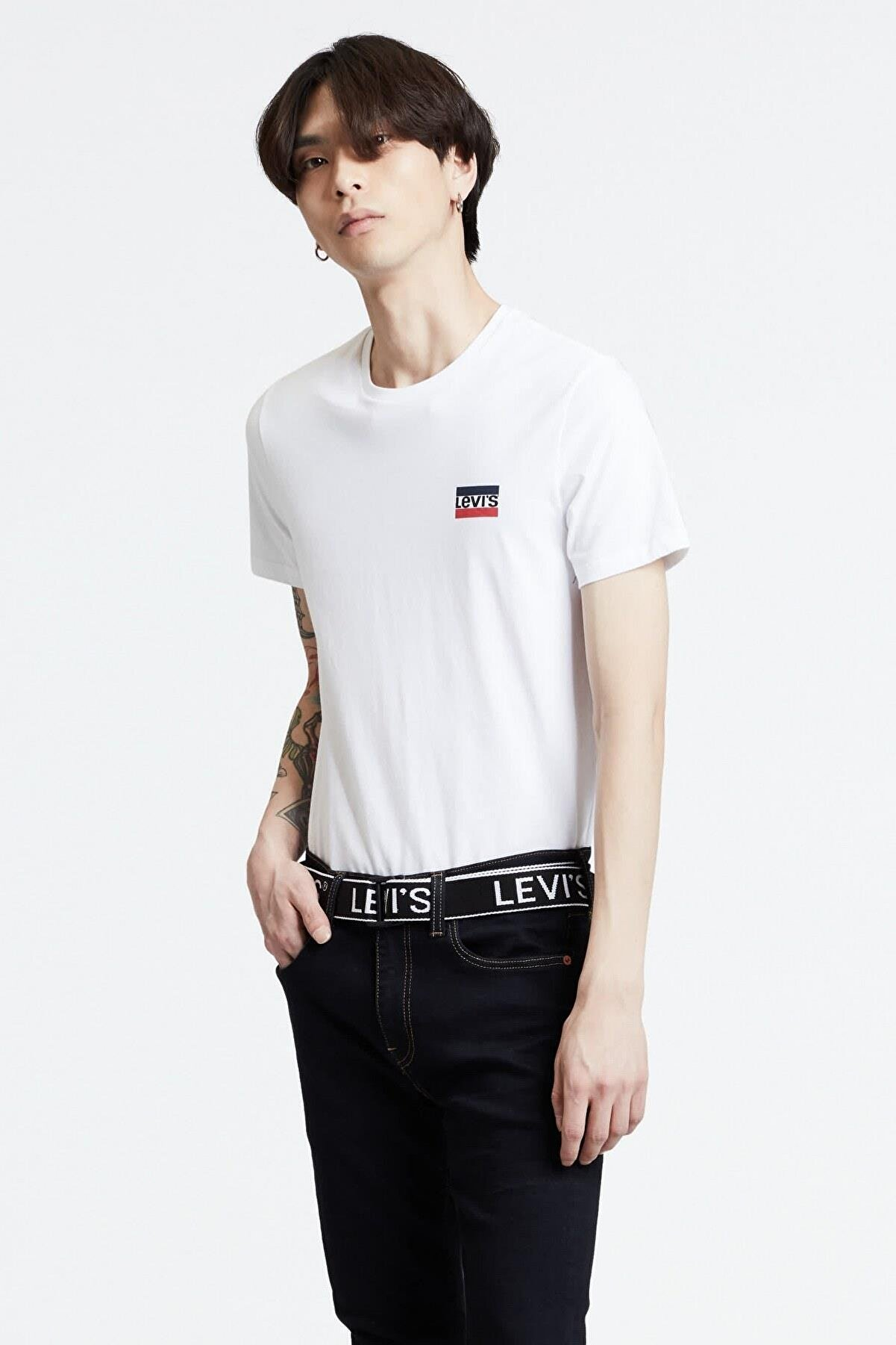 Levi's Erkek Beyaz 2'li T-shirt 79681-0000