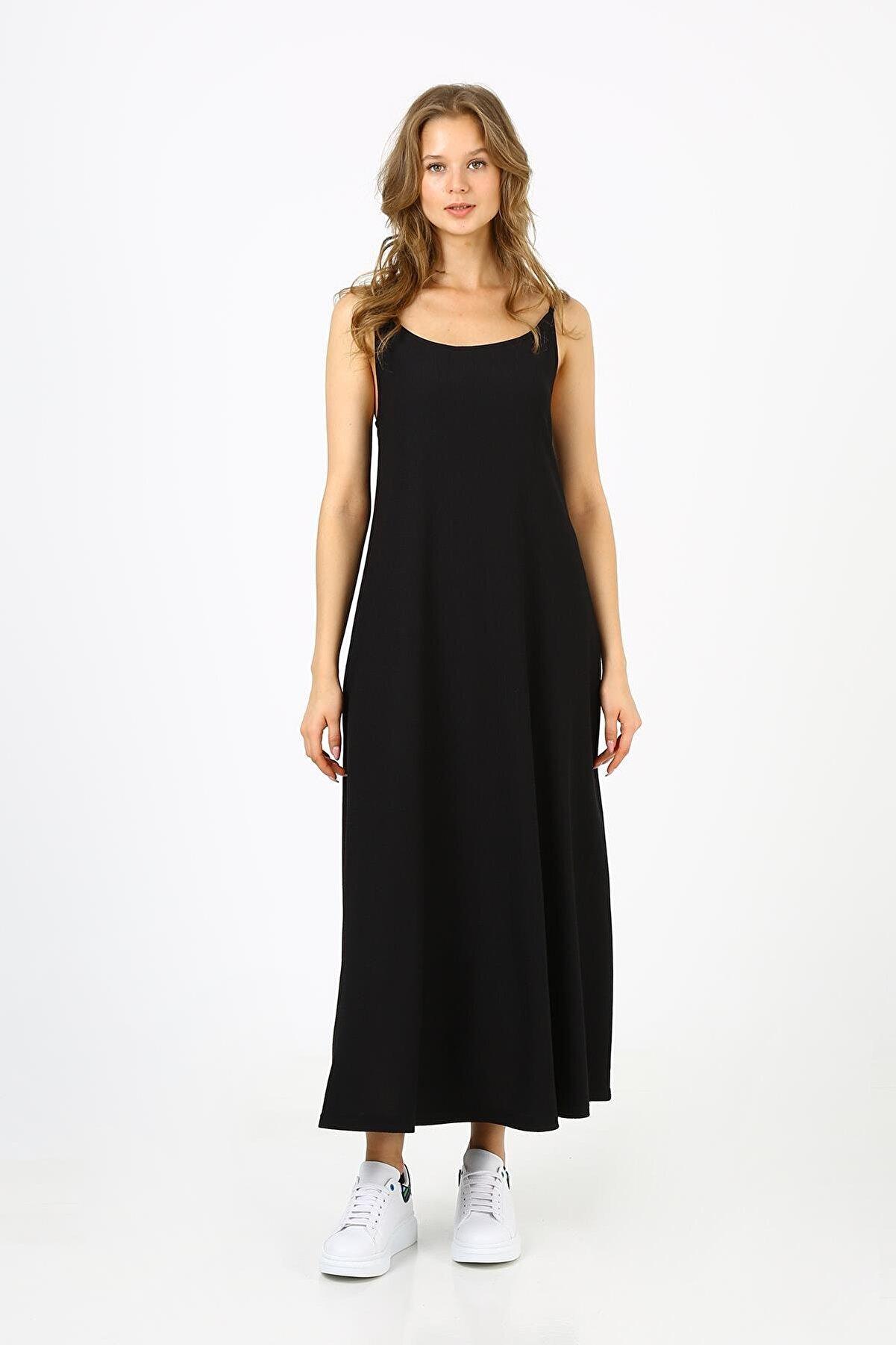 ALEXANDERGARDI Kadın Askılı Uzun Elbise (b21-4210)
