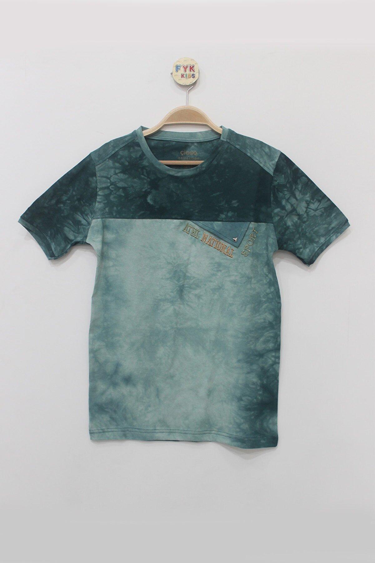 FYK KİDS Erkek  Batik Desenli T-shirt