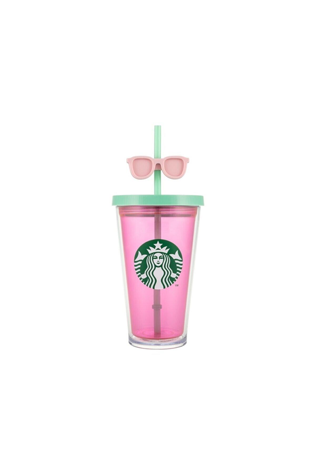 Starbucks Pembe Gözlüklü Soğuk Içecek Bardağı - 473 Ml