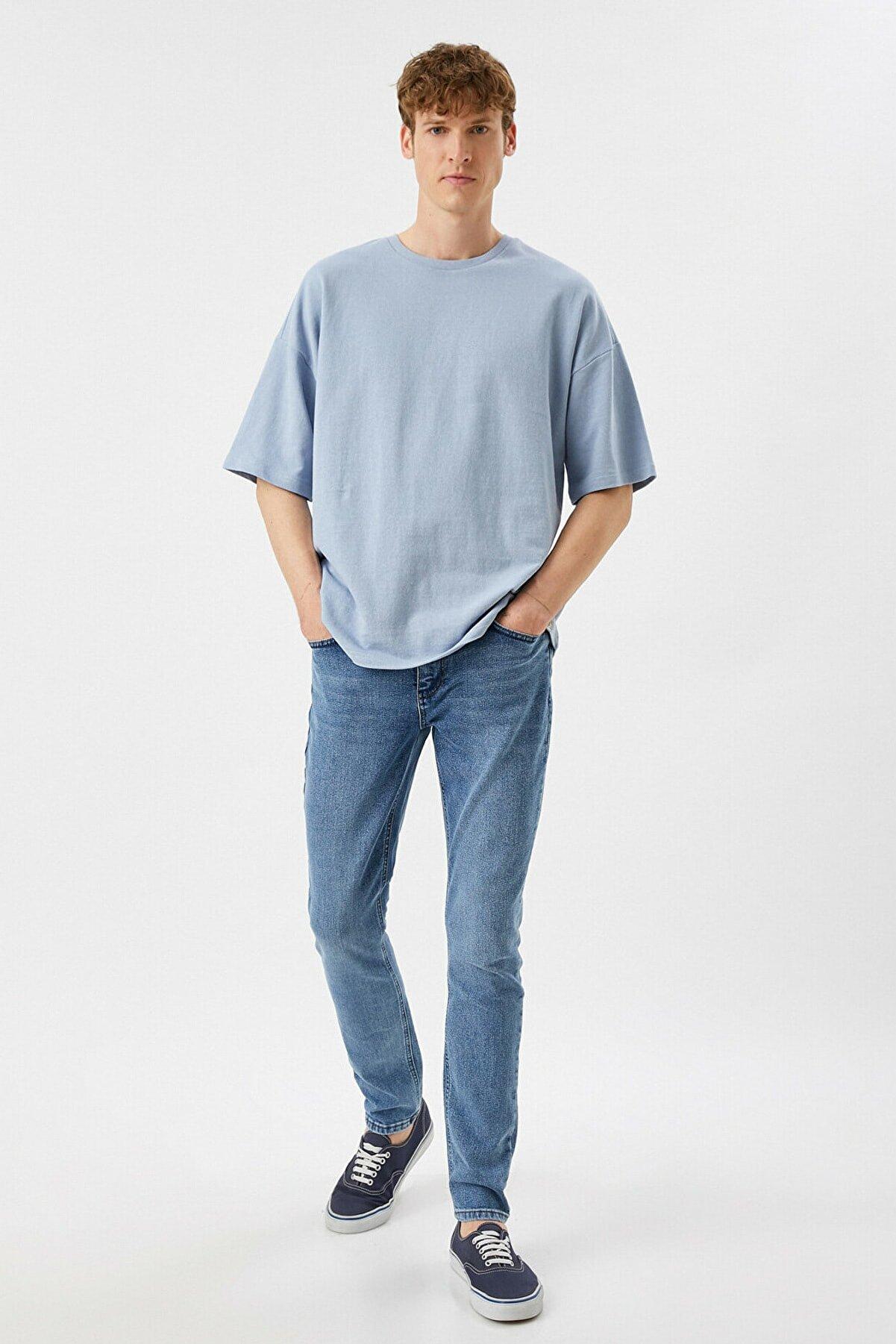 Koton Erkek Mavi Jeans 1YAM43139LD