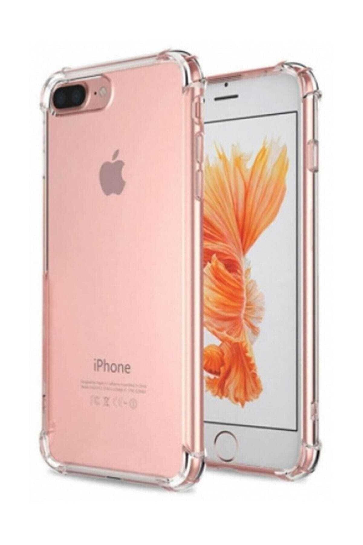 Telefon Aksesuarları Iphone 7 Plus - 8 Plus Ultra Ince Şeffaf Airbag Anti Şok Silikon Uyumlu Kılıf- Şeffaf