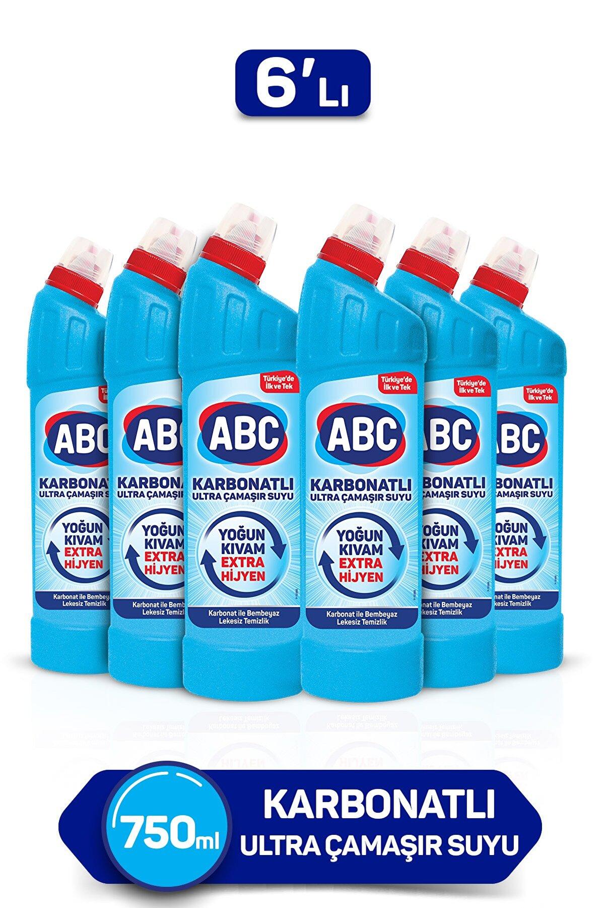 ABC Karbonatlı Ultra Çamaşır Suyu 750 Ml 6'lı Paket