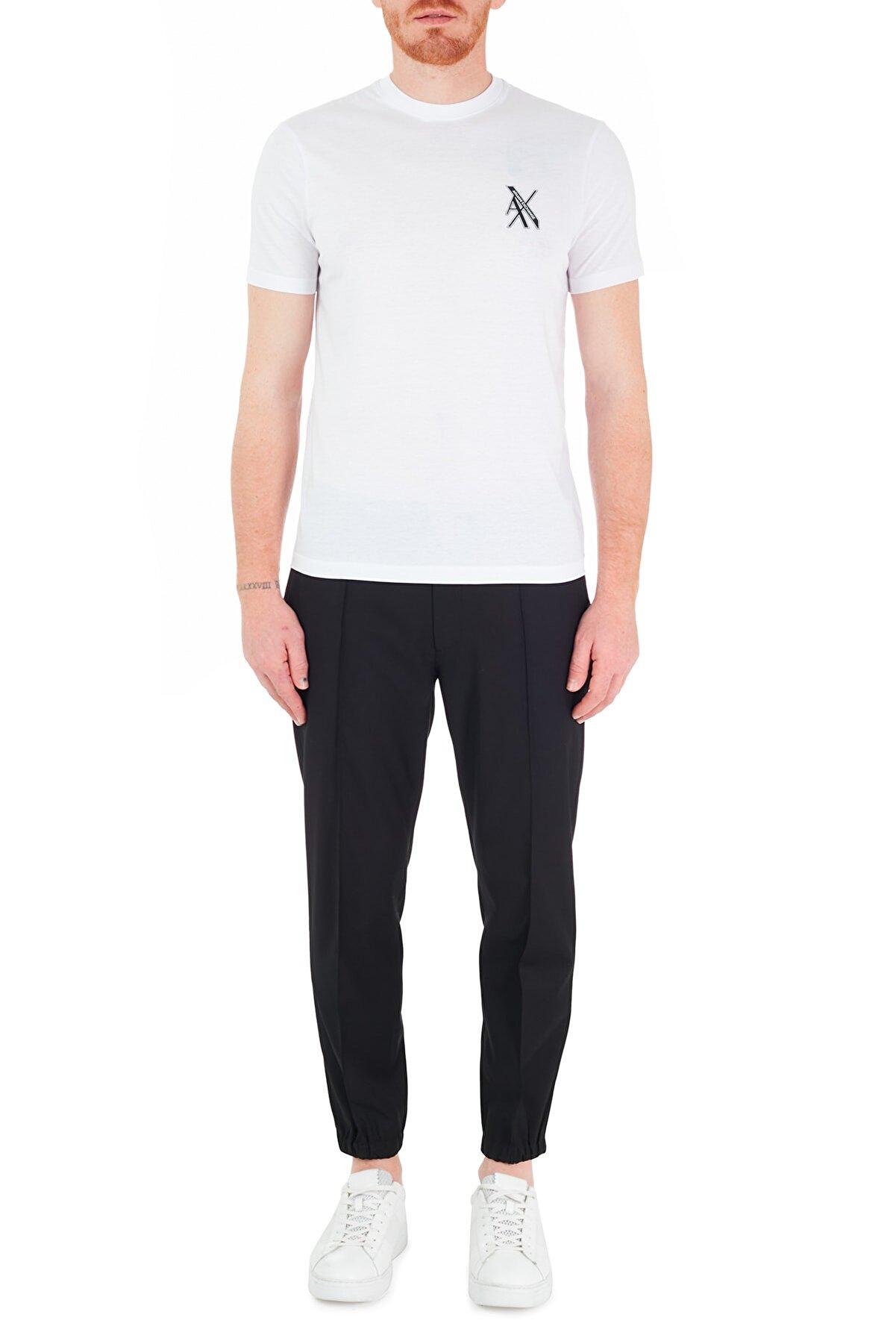 Armani Exchange Erkek Siyah Belden Bağlamalı Regular Fit Pantolon