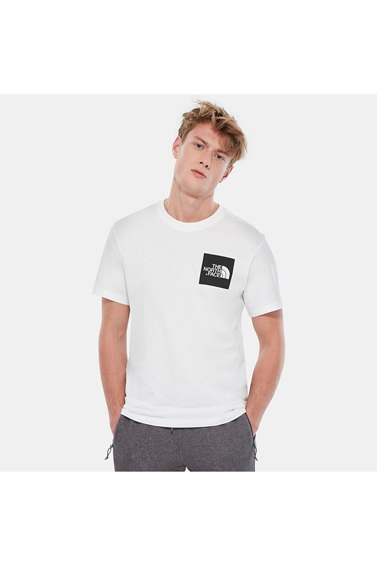 The North Face Fine Erkek T-shirt- Beyaz