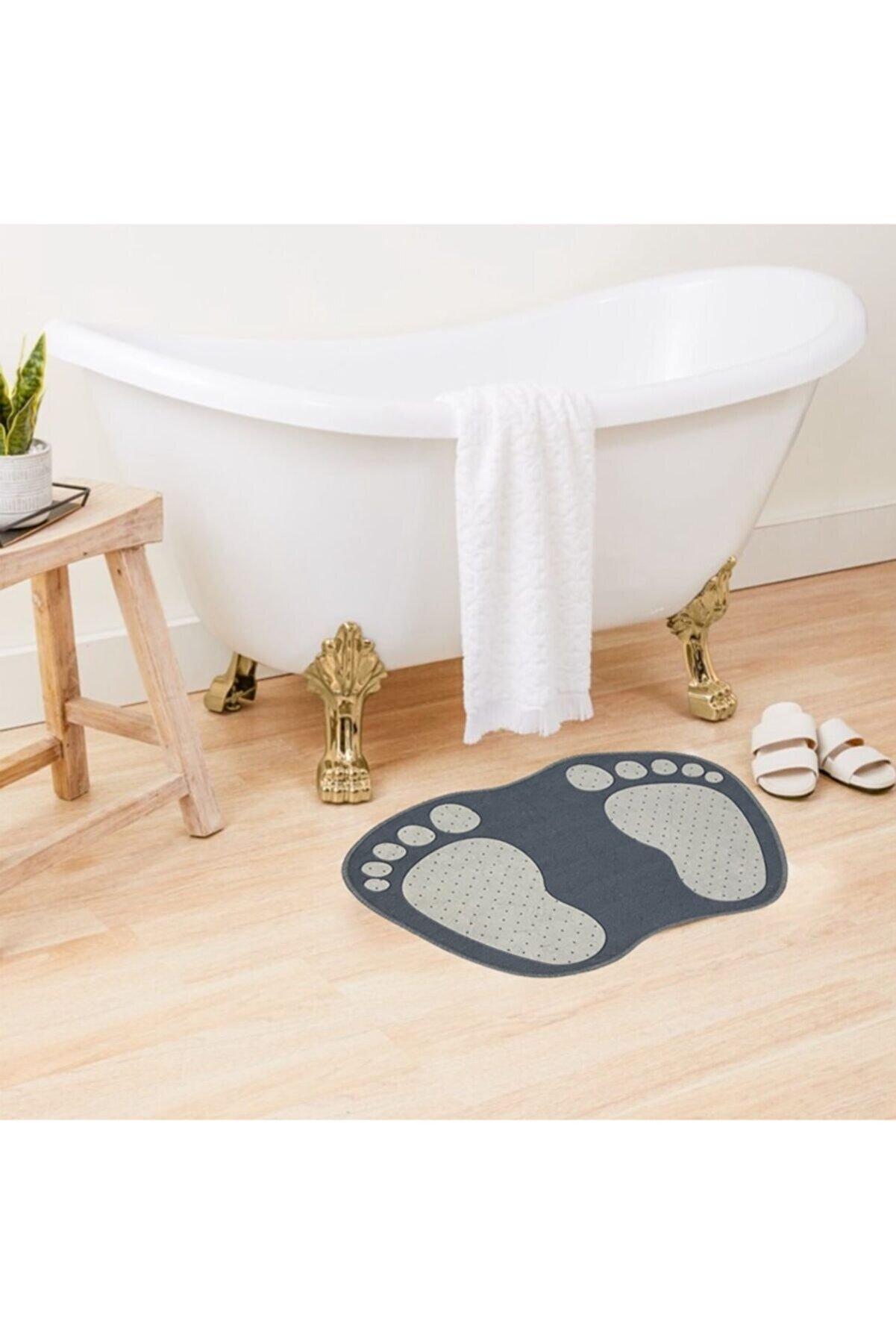Sermat Ayak Izi Desen Banyo Paspası 40cmx60cm