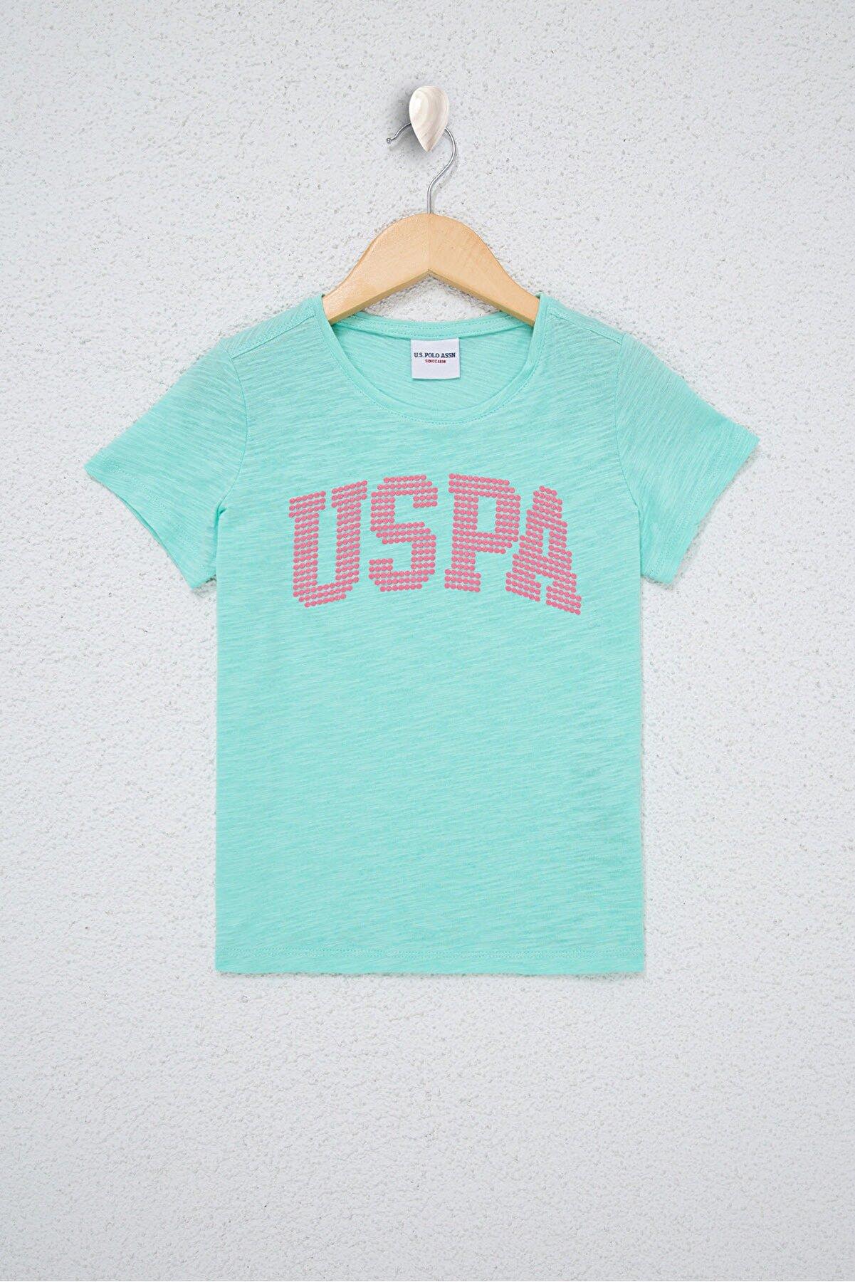 US Polo Assn Yesıl Kız Çocuk T-Shirt