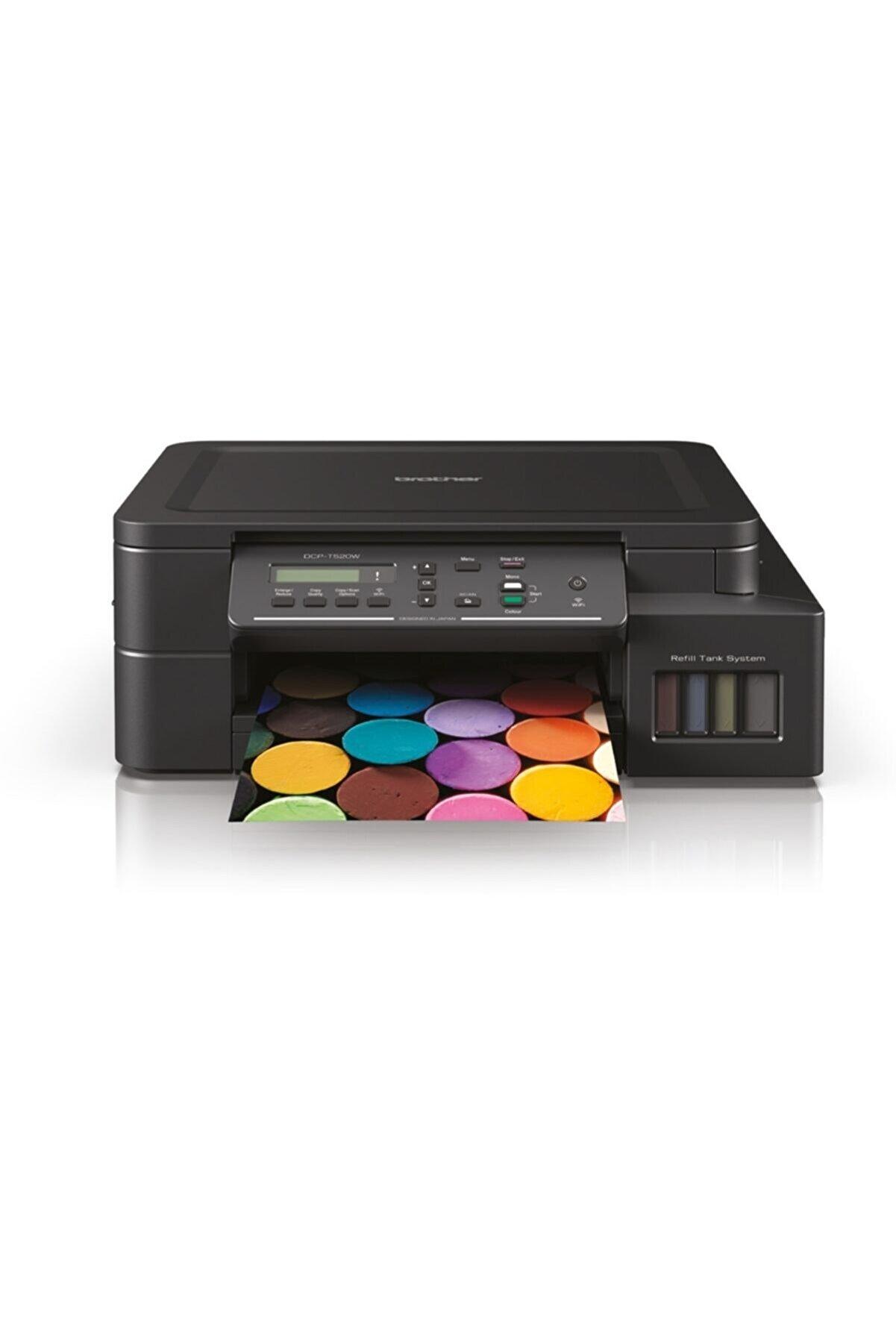 Brother Dcp-t520w Renkli Mürekkep Püskürtmeli, Tanklı Çok Fonksiyonlu Yazıcı