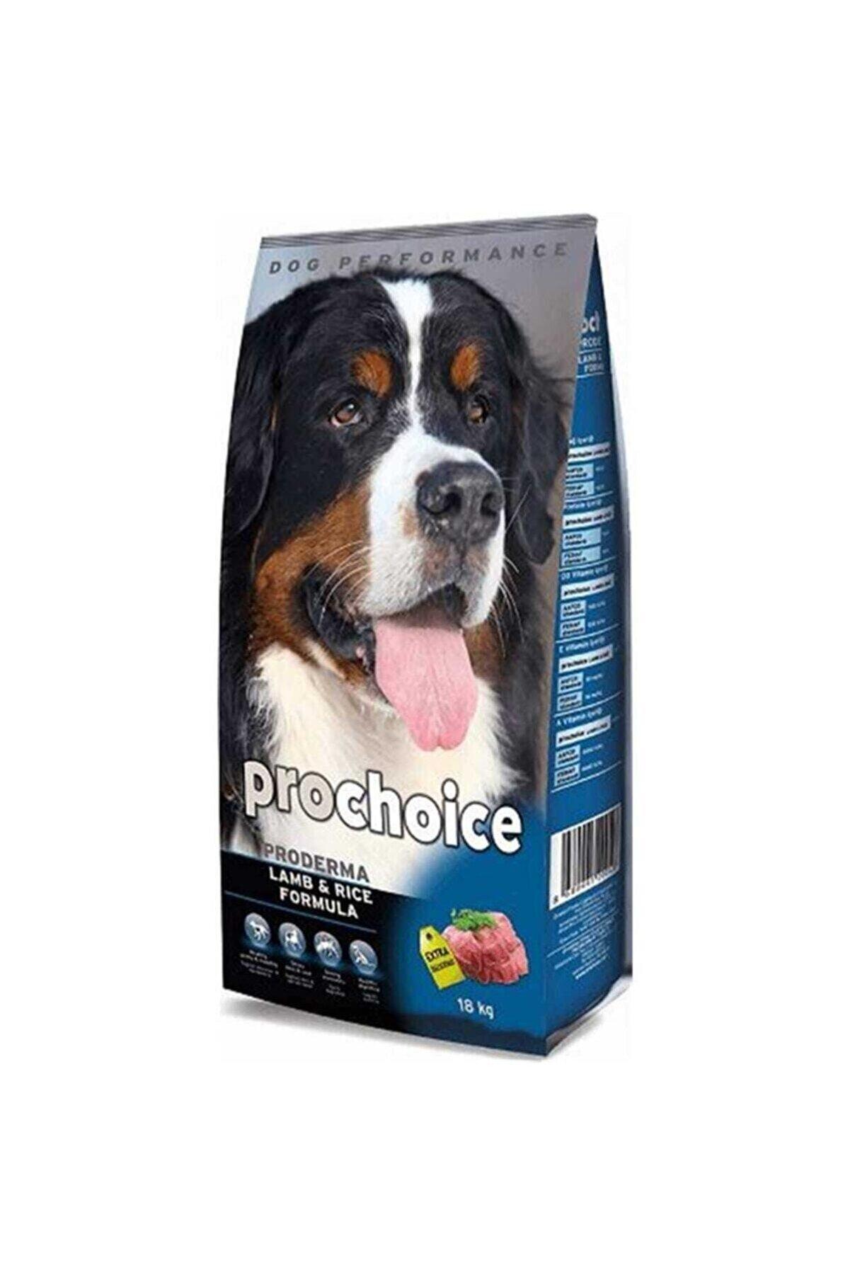 Pro Choice Prochoice Proderma Kuzu Etli Ve Pirinçli Yetişkin Köpek Maması 18 Kg
