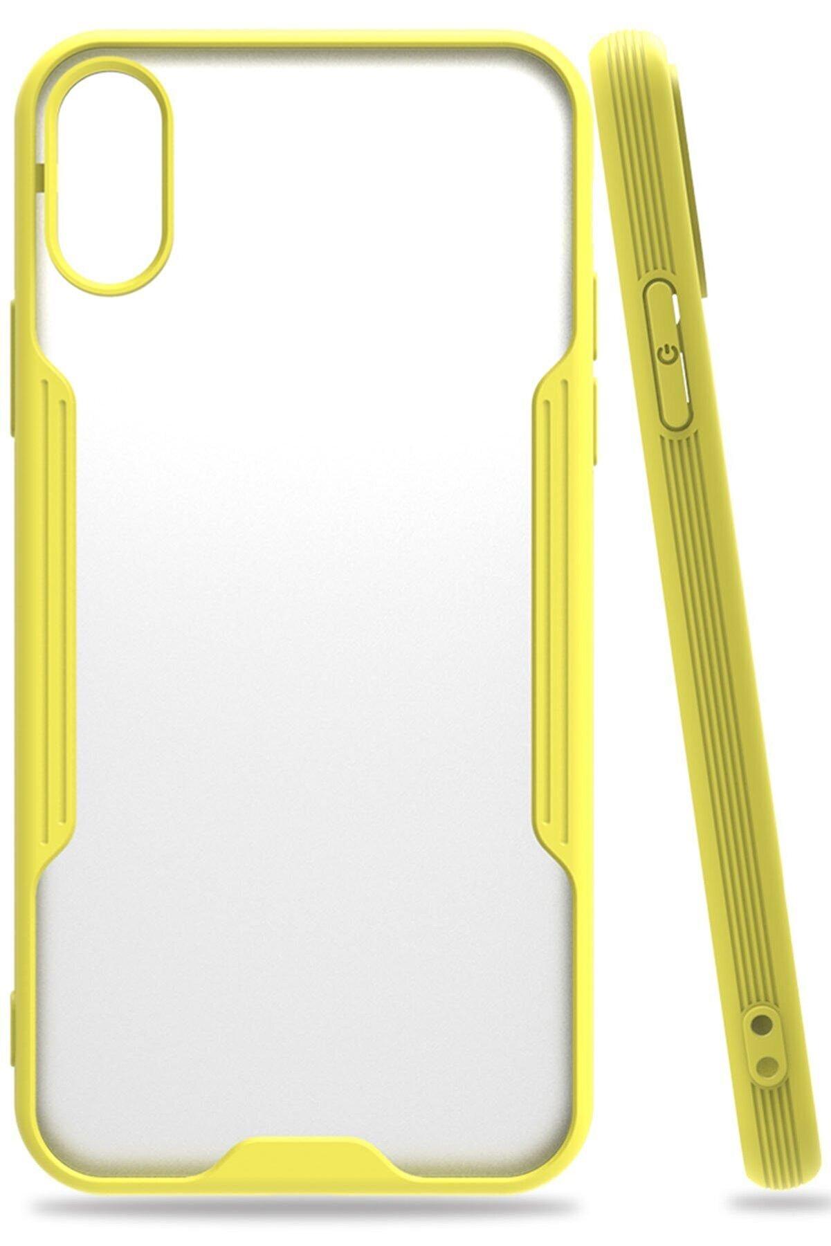 Zipax Iphone Xs Kılıf Platin Silikon - Sarı