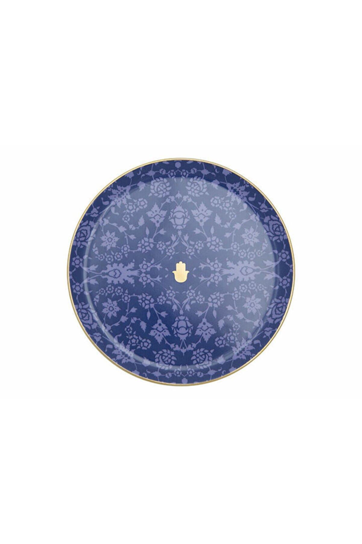 Porland Glamorous Lacivert Düz Tabak 24cm
