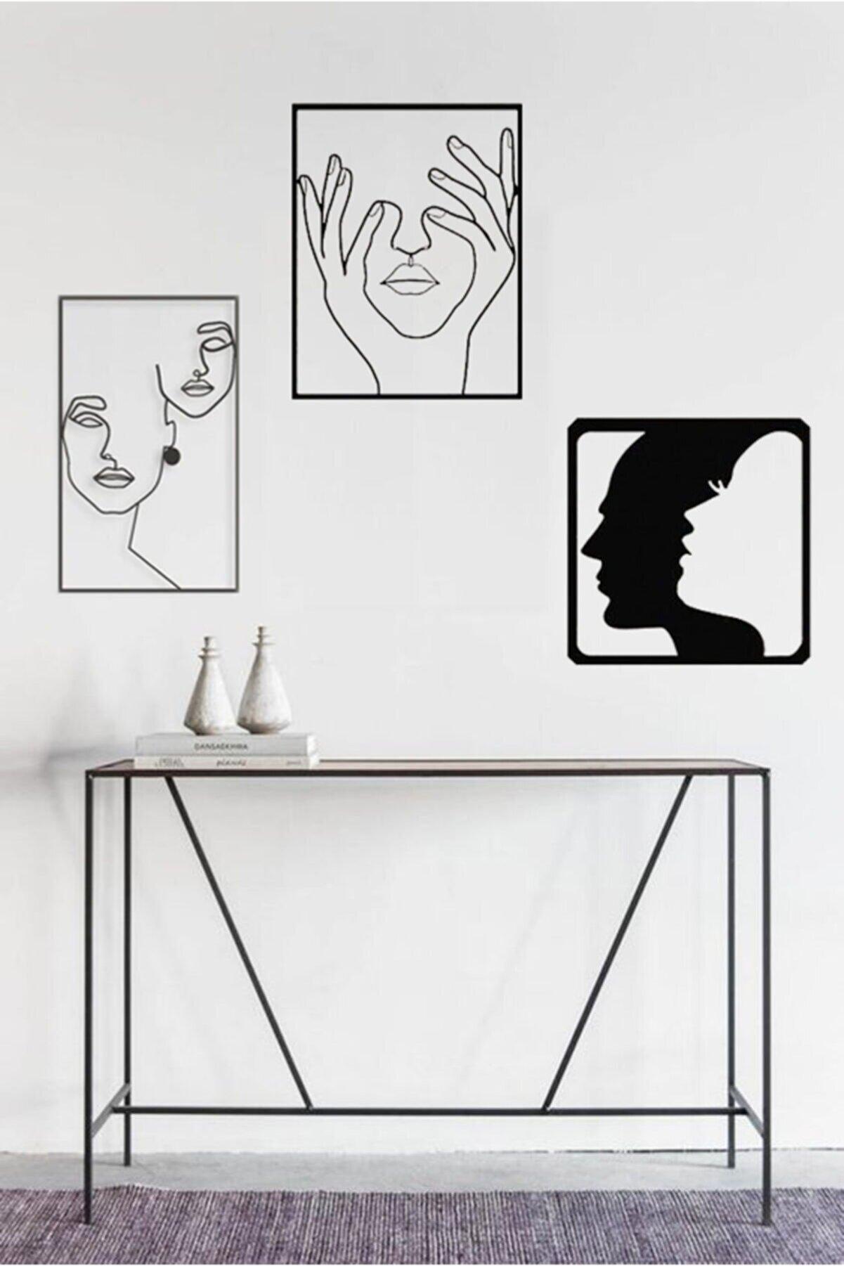 Taktakicat Muhteşem Üçlü Ahşap Dekoratif Tablo 1