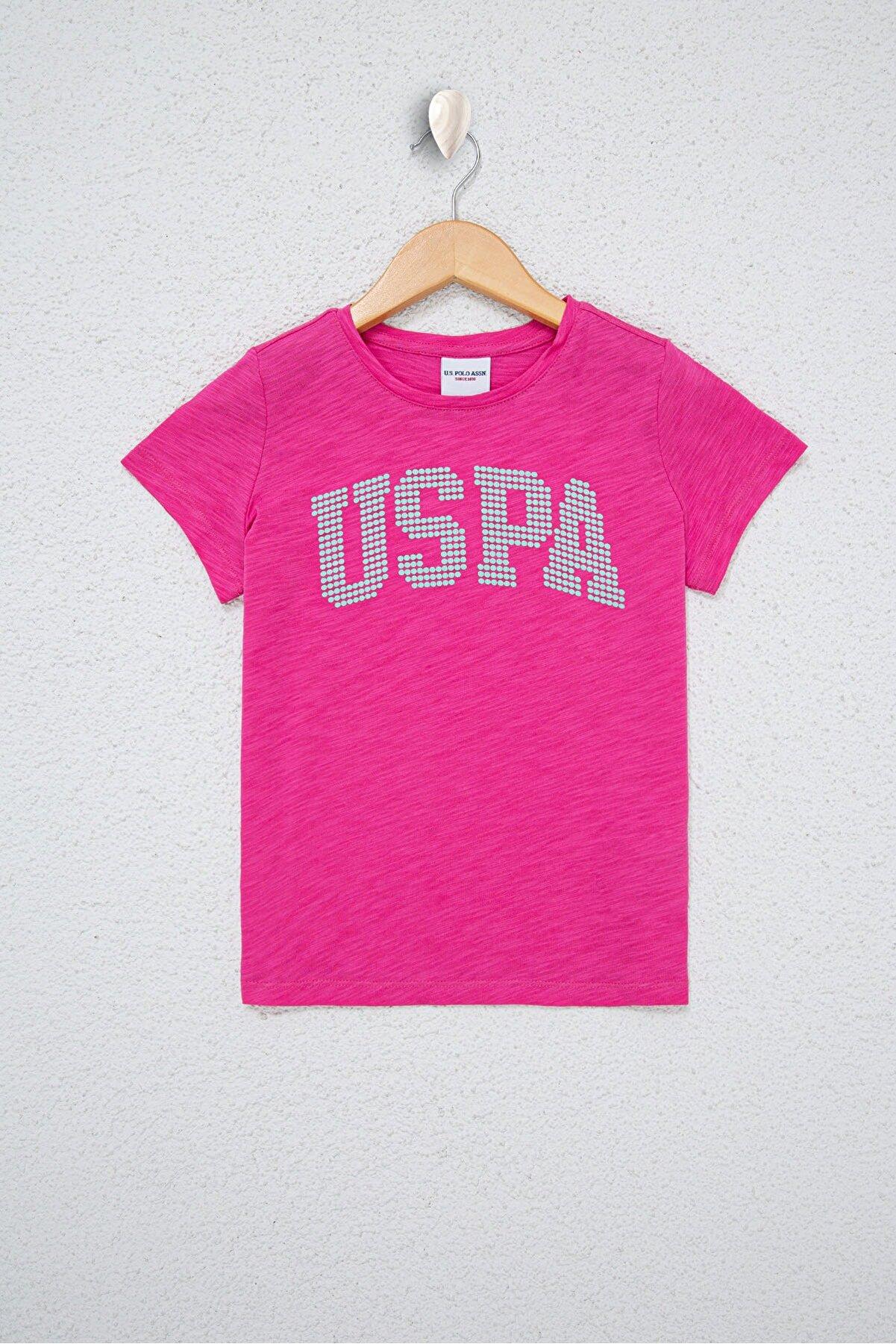 US Polo Assn Pembe Kız Çocuk T-Shirt