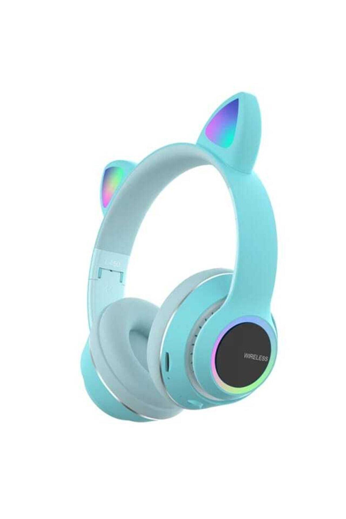 T G Kablosuz Bluetooth 5.0 Stereo Yüksek Ses Akıllı Renkli Led Kulaklık -l450