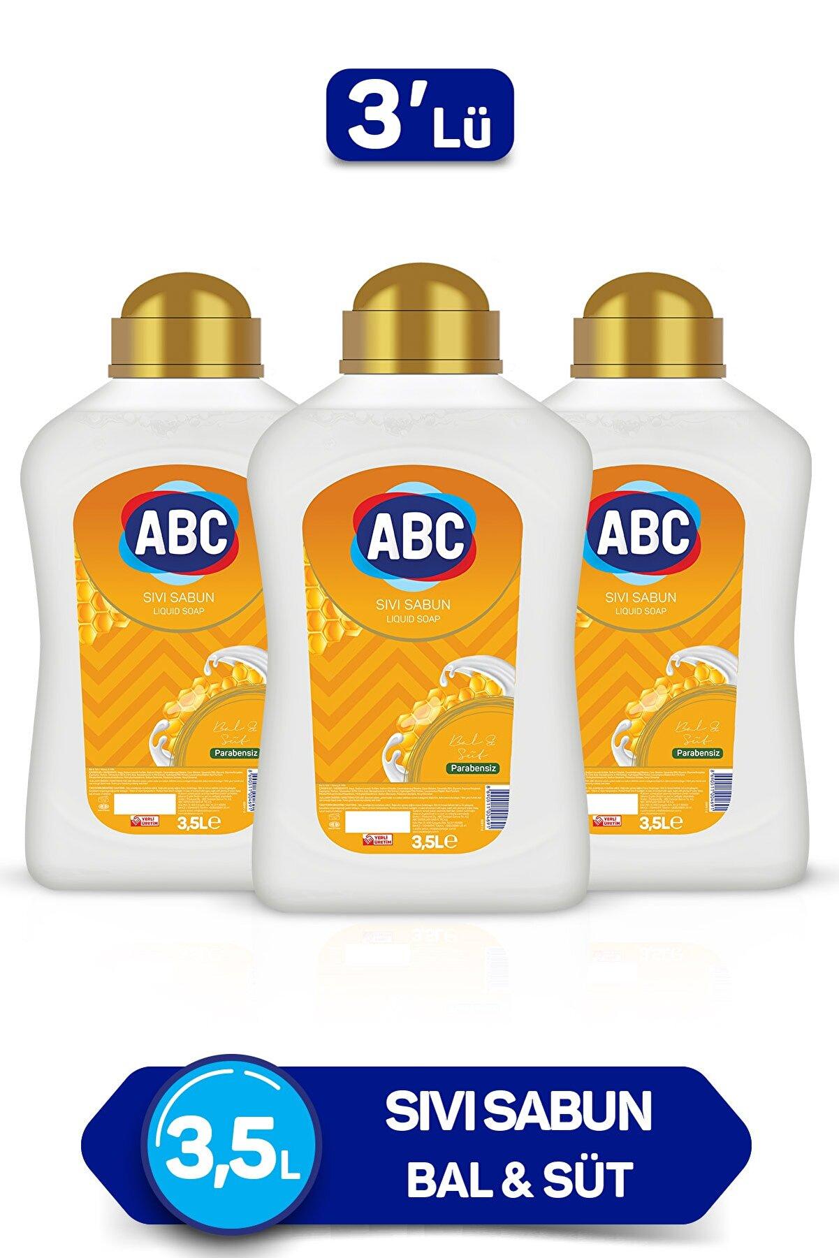 ABC Sıvı Sabun Bal & Süt 3500 ml x 3 Adet