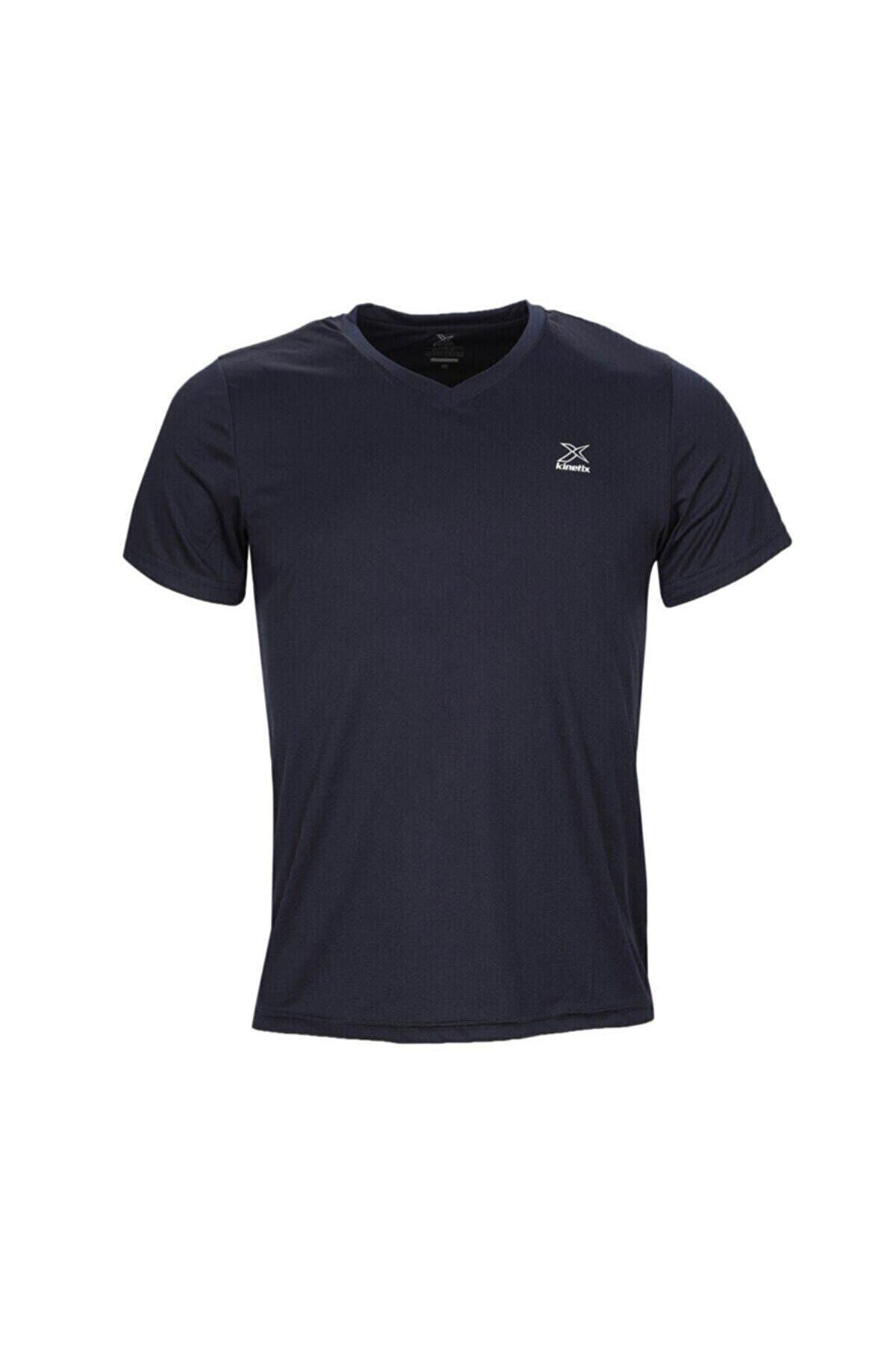 Kinetix SN222 BASIC V NECK T-SHIR Lacivert Erkek T-Shirt 100581583