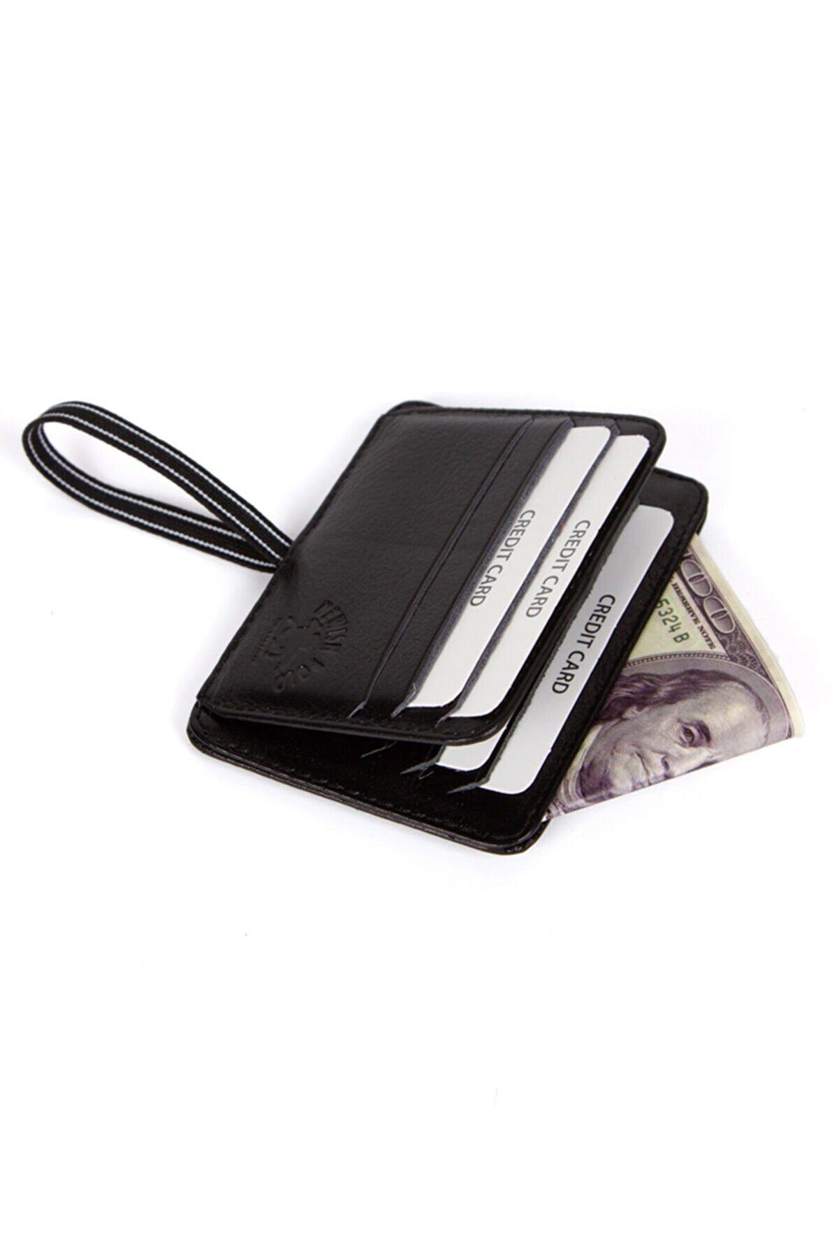 Kindfox Nwpolo Unisex Hakiki Deri Para Bölmeli Ipli Kartlık | Cüzdan