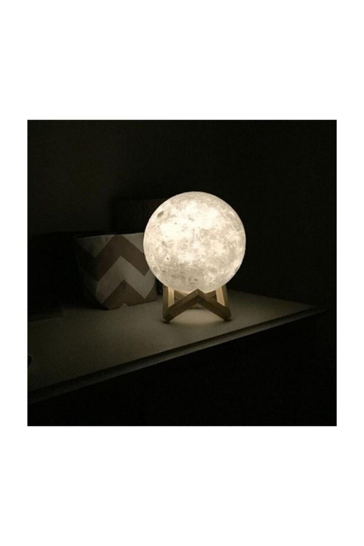 artskin Arya 3d Standlı Ay Gece Lambası Dekoratif Küre Led