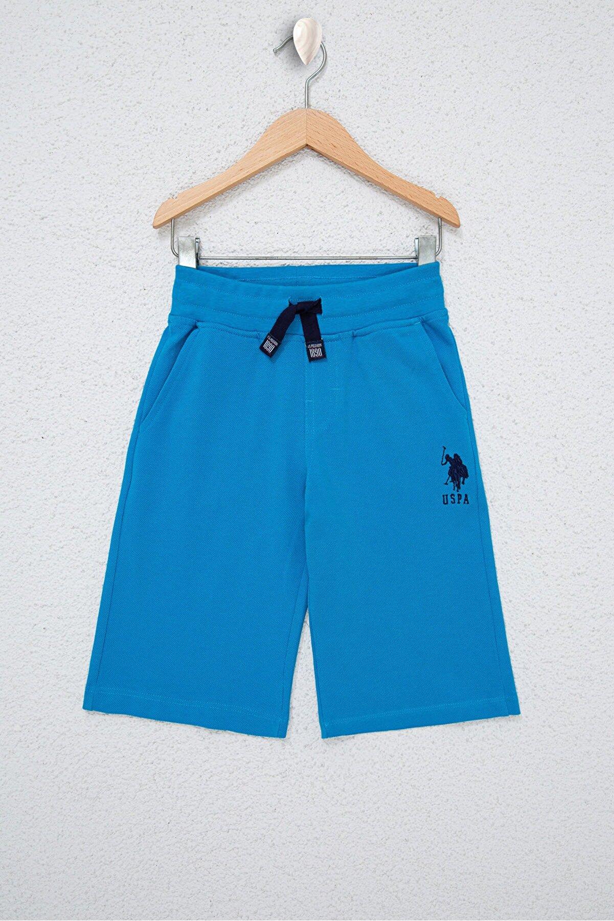 US Polo Assn Mavı Erkek Çocuk Şort & Bermuda