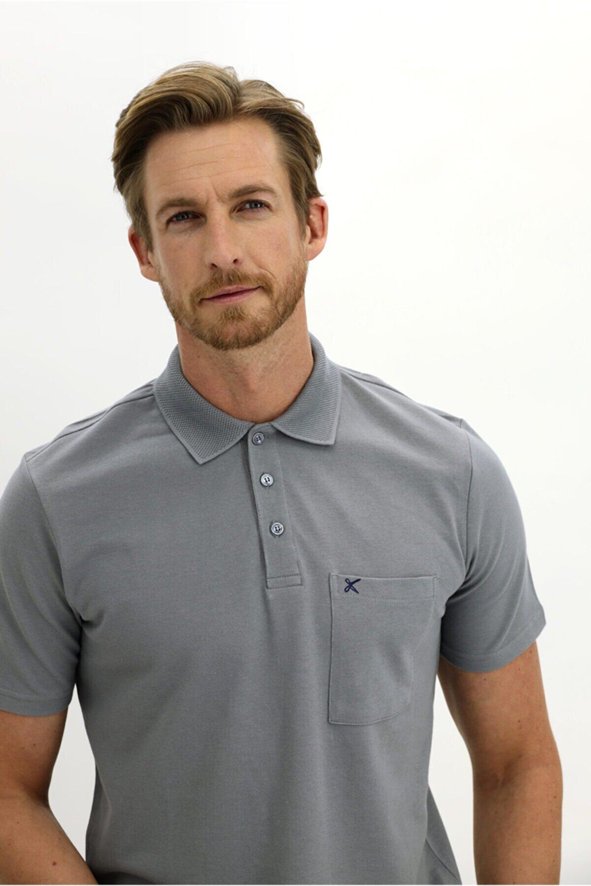 Kiğılı Polo Yaka Regular Fit Tişört