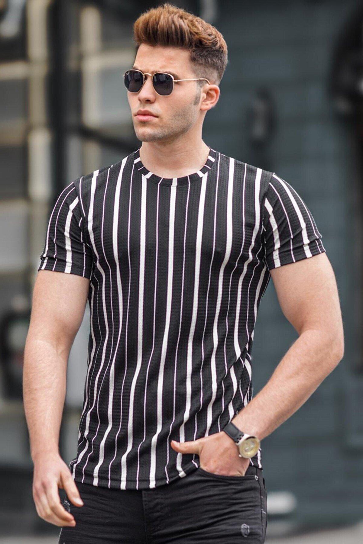 Madmext Erkek Siyah  T-Shirt 5266