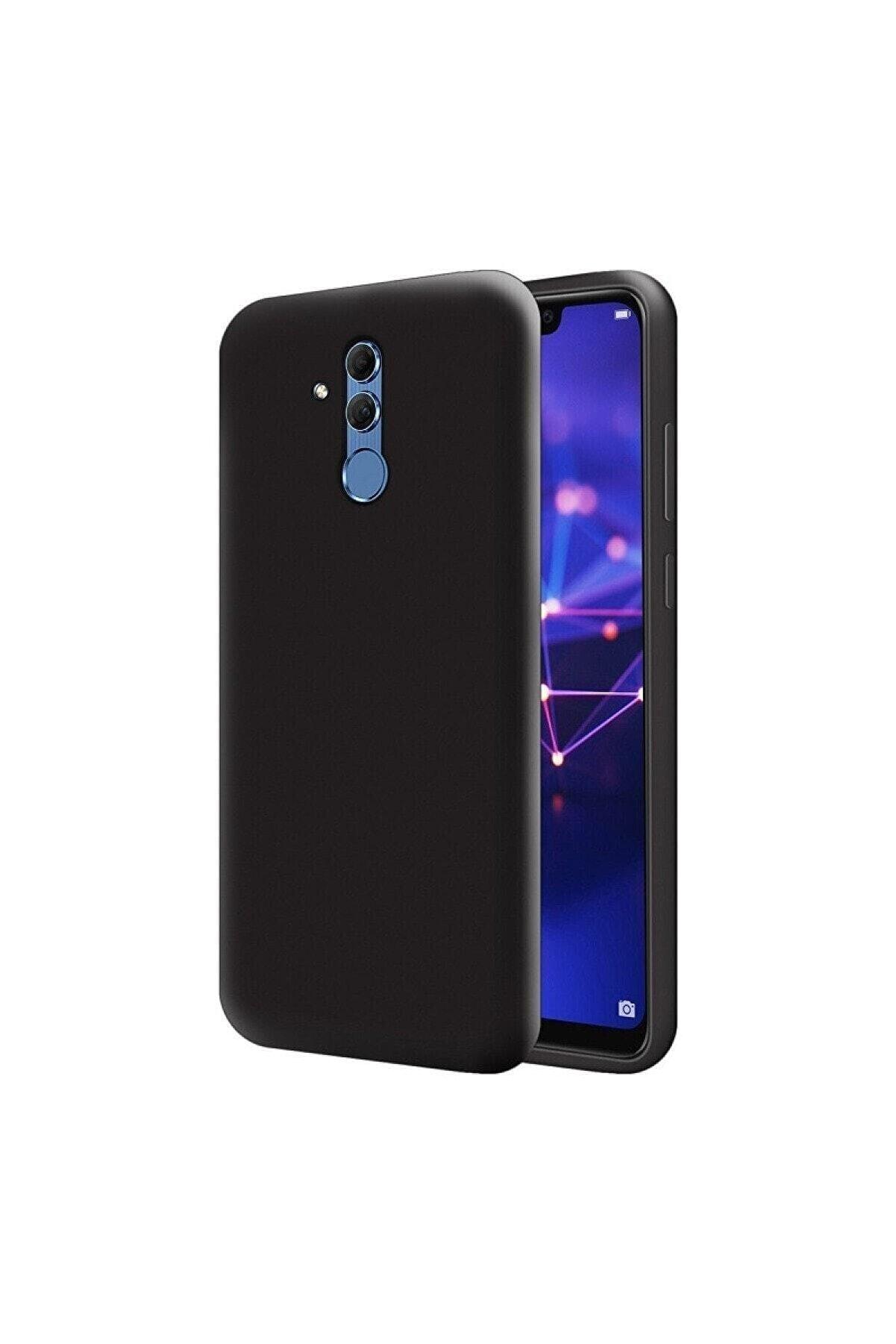 HappyCase Huawei Mate 20 Lite Içi Kadife Lansman Silikon Kılıf Siyah