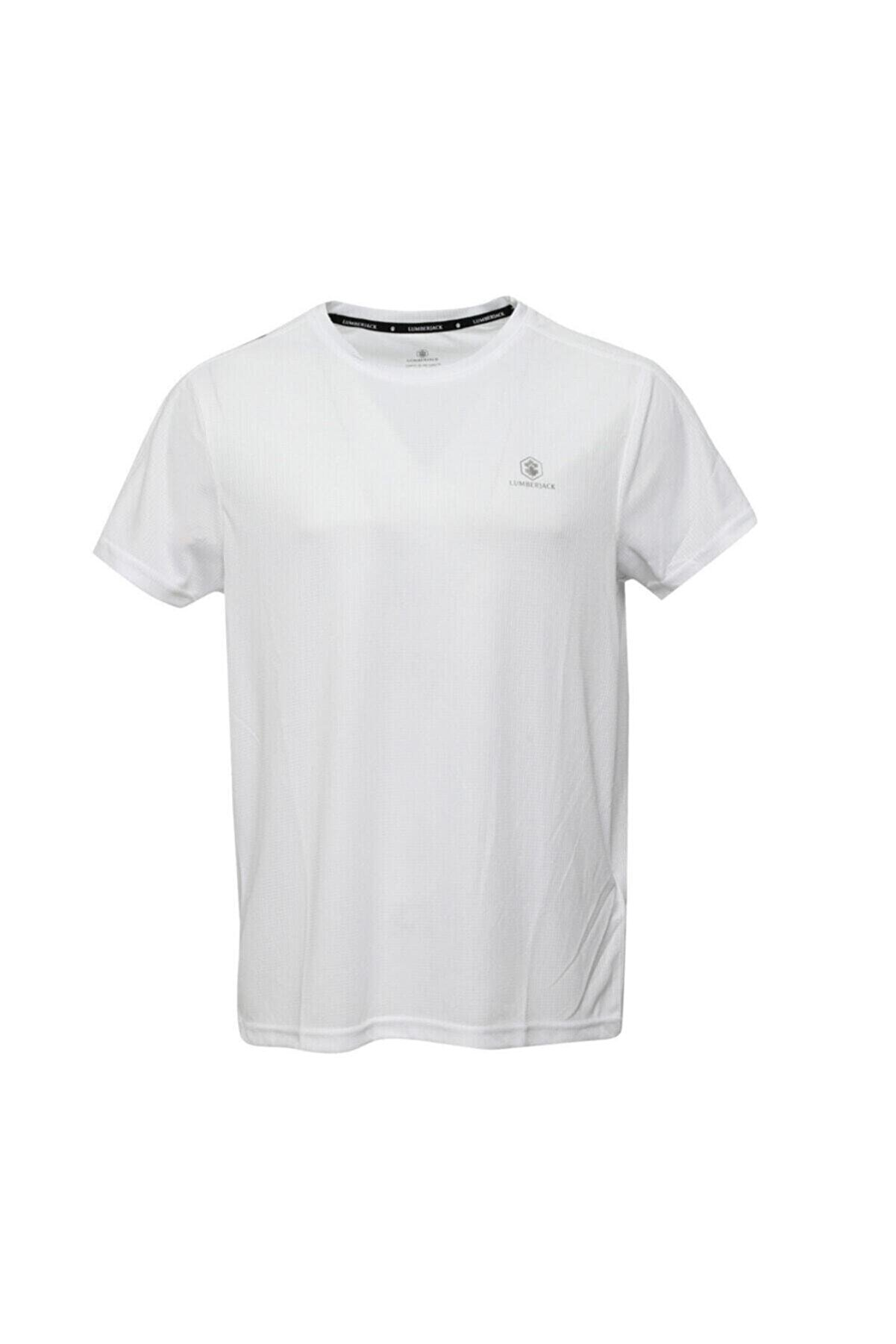Lumberjack Erkek T-shirt Beyaz As00542625 100582339 Ct177 Leon Basic