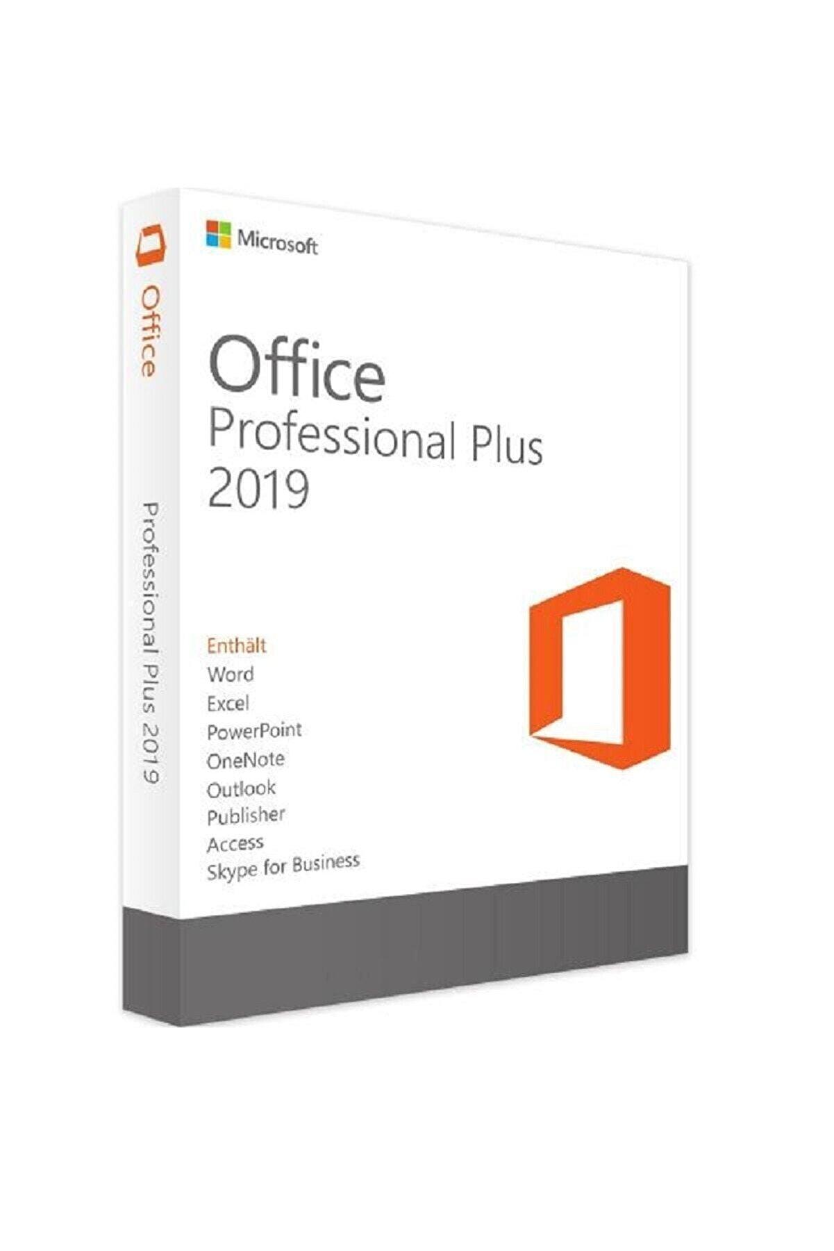 Microsoft Office 2019 Pro Plus Lisans Anahtarı Key + 32&64 Bit Uyumlu