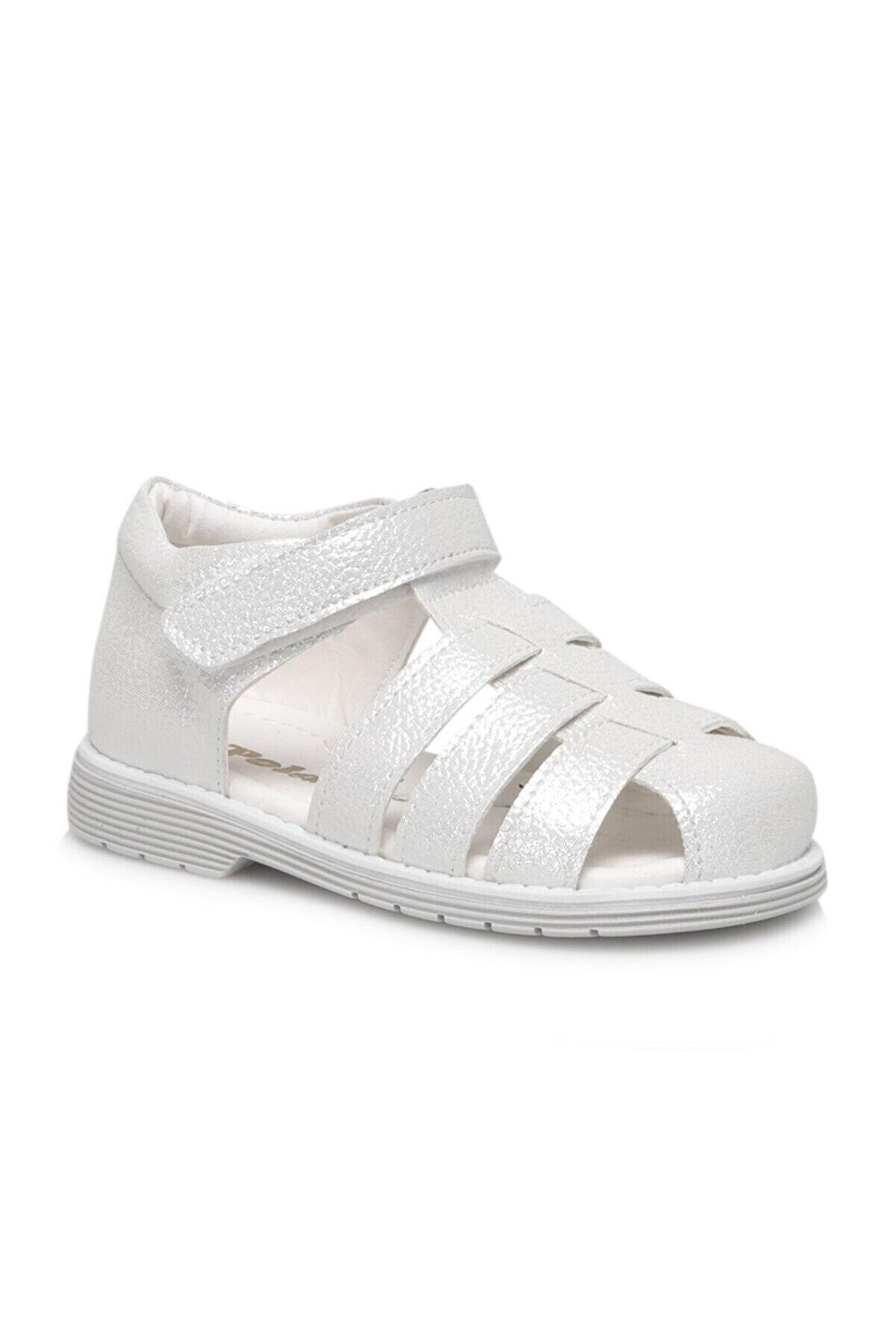 Polaris Kız Çocuk Gümüş  Sandalet 615345.b1f x