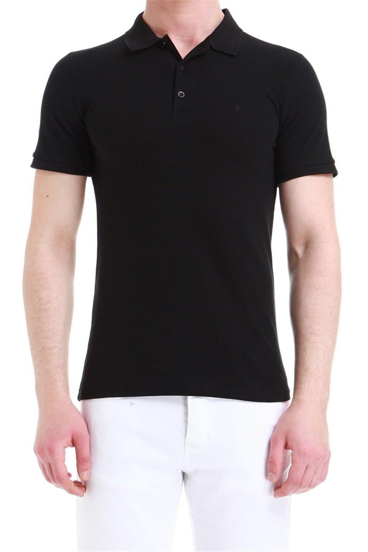 Efor Siyah Slim Fit Spor T-shirt